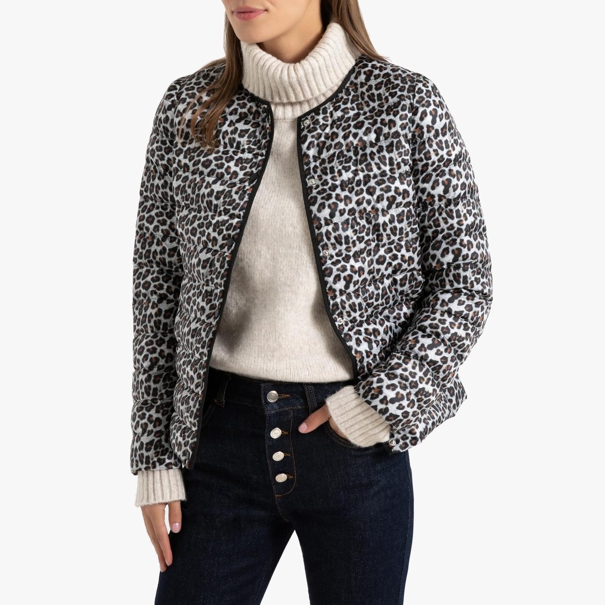 Куртка La Redoute Легкая укороченная с леопардовым принтом 34 (FR) - 40 (RUS) другие куртка la redoute легкая укороченная с леопардовым принтом 34 fr 40 rus другие