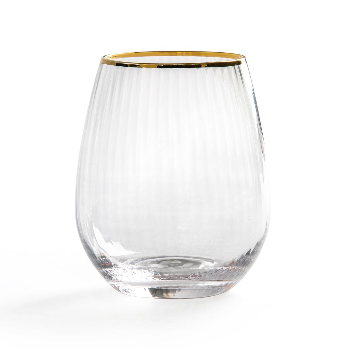 Комплект из бокалов из La Redoute Граненого стекла Lurik единый размер другие