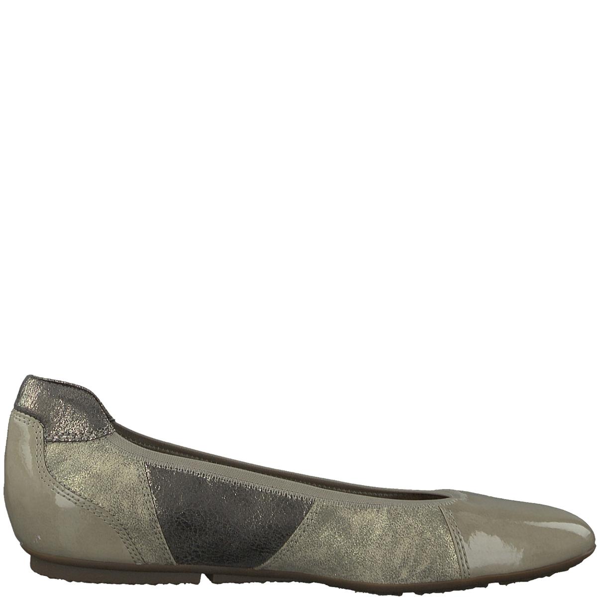 Балетки JoyaДетали •  Высота каблука : 1 см. •  Круглый мысок •  Застежка : без застежкиСостав и уход •  Верх  50% синтетического материала, 50% текстиля •  Подкладка 50% кожи, 50% текстиля<br><br>Цвет: серо-коричневый<br>Размер: 38