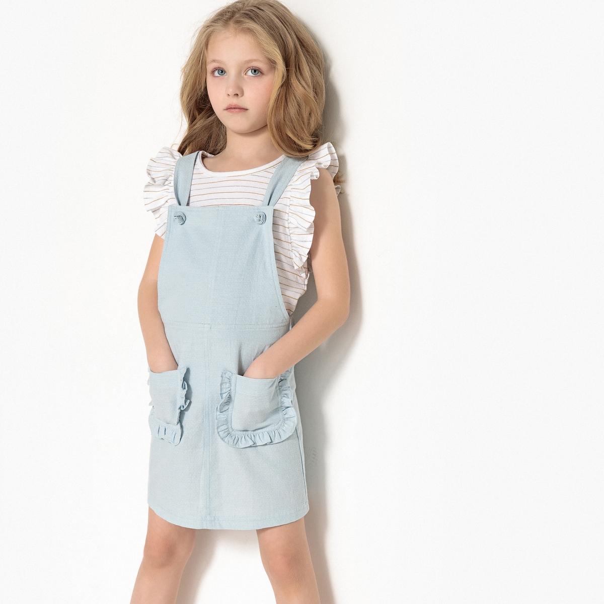 Платье-комбинезон, 3-12 лет