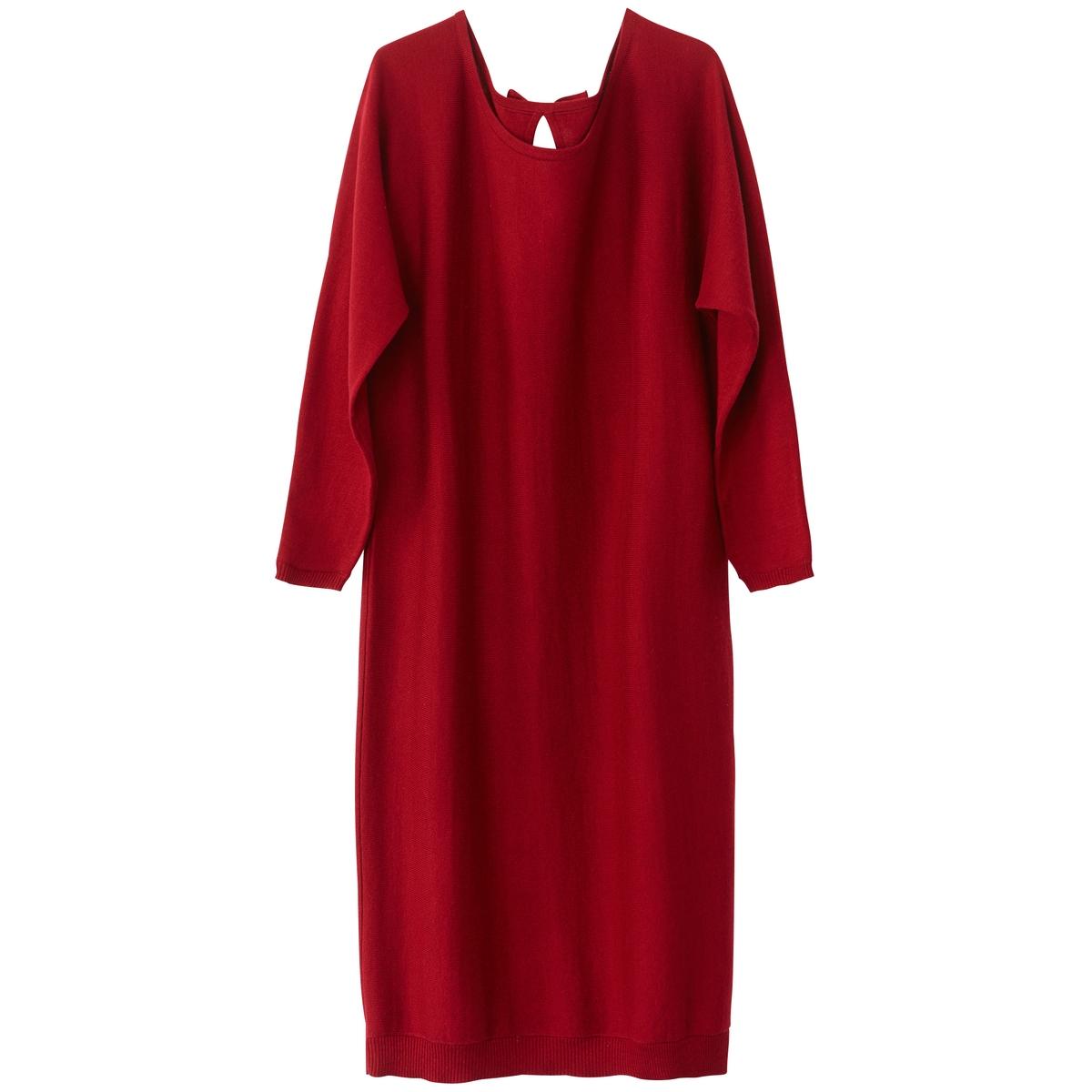 Платье прямое однотонное, средней длины, с длинными рукавамиДетали  •  Форма : прямая  •  Длина до колен •  Длинные рукава     •  Круглый вырезСостав и уход  •  5% кашемира, 95% хлопка •  Ручная стирка  •  Деликатная сухая чистка / не отбеливать  •  Не использовать барабанную сушку •  Низкая температура глажки<br><br>Цвет: красный темный,серый меланж,черный