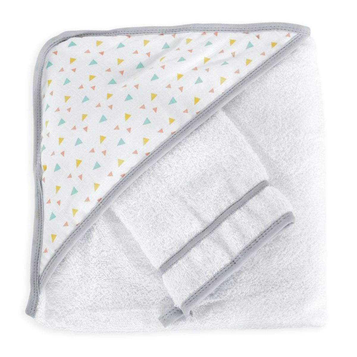 Sortie de bain bébé - MAXI format avec gant  Graphique