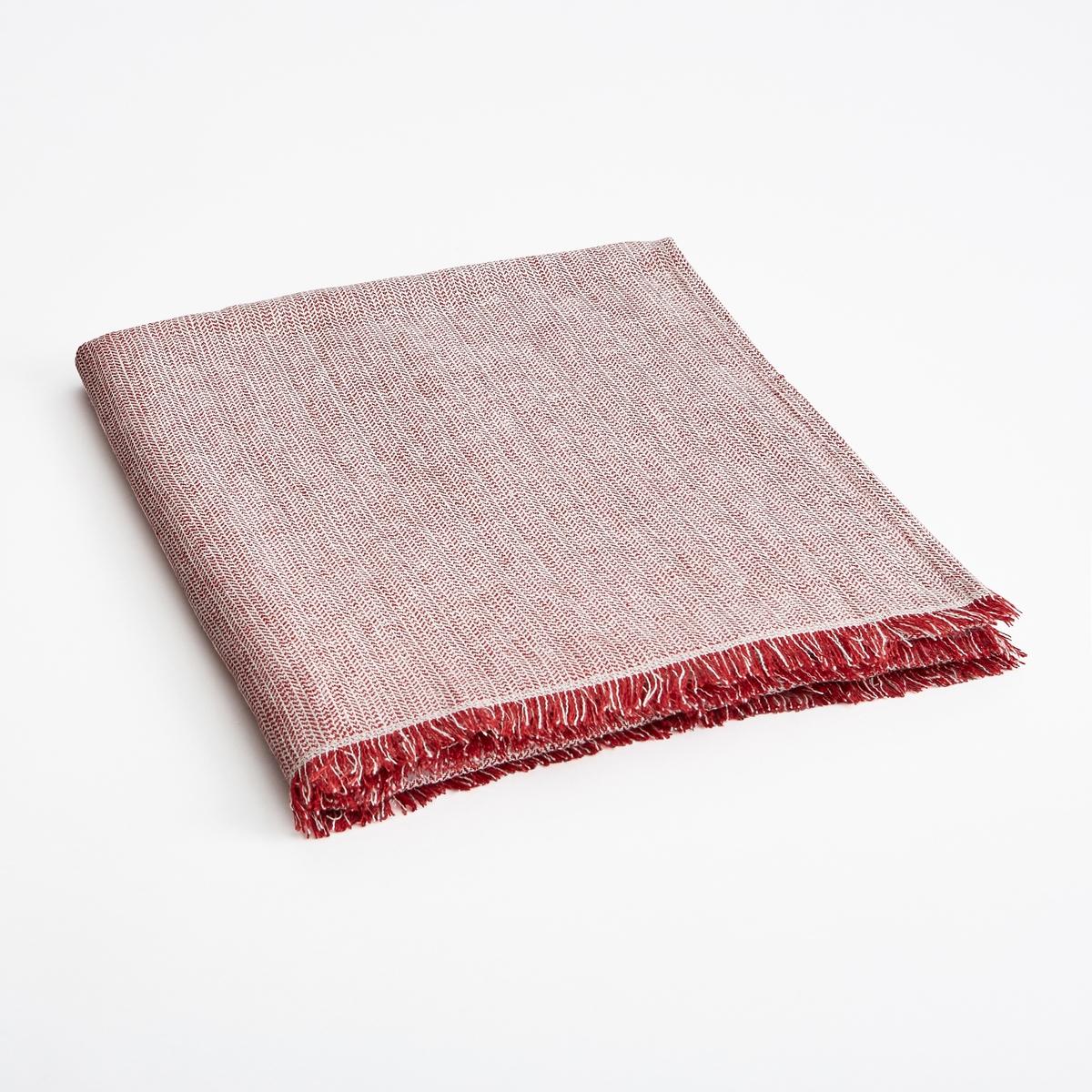 Плед EbintaПлед Ebinta. Из плотного и очень мягкого стиранного льна с зигзагообразным рисунком из окрашенных волокон... Бахрома по бокам. Размеры :  130 х 170 см.<br><br>Цвет: красный