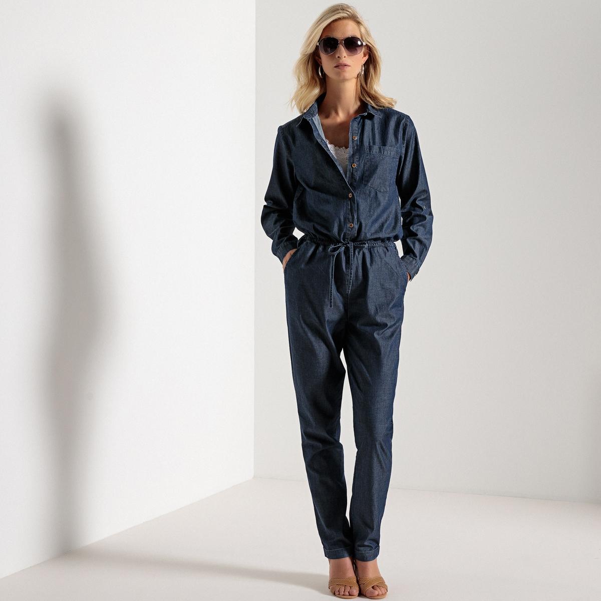 Комбинезон джинсовый в рабочем стиле жакет джинсовый pinner прямой покрой