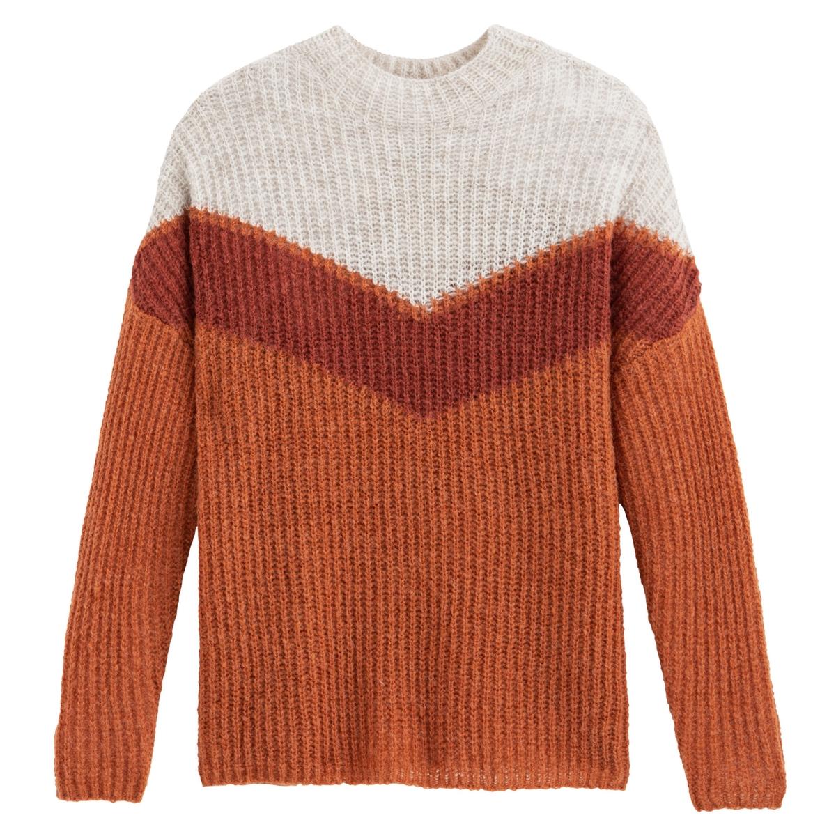 Jersey con cuello redondo colorblock