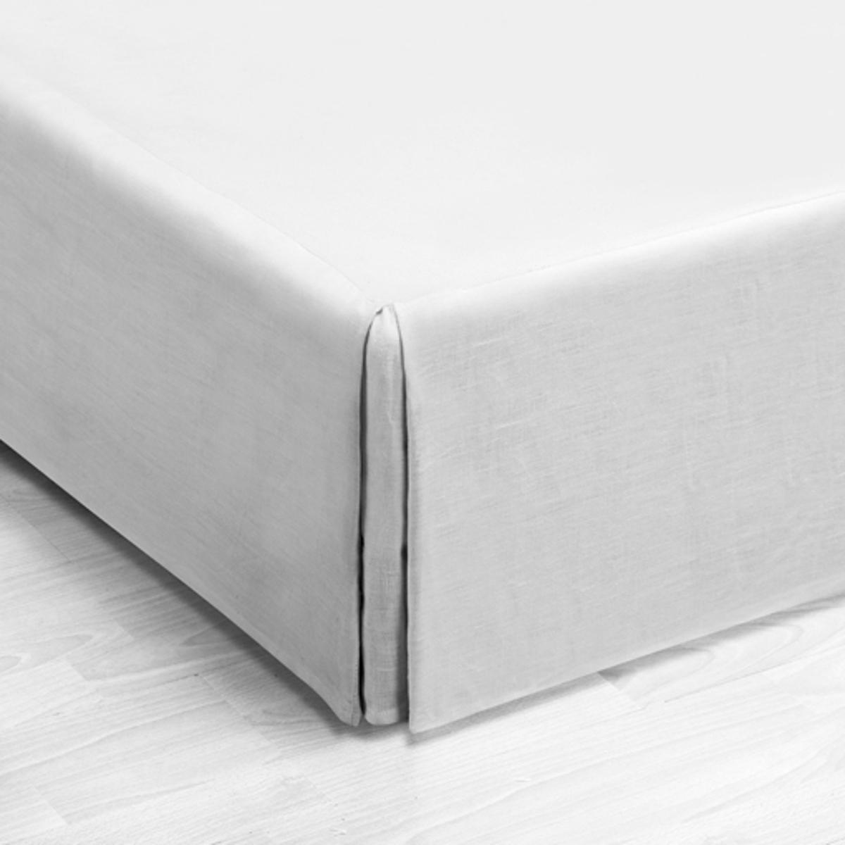 Чехол La Redoute Для кровати из льна Touril 90 x 190 см белый изголовье la redoute кровати из льна в см yliana 140 см бежевый
