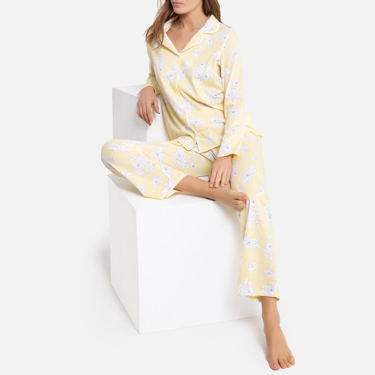Pijama de manga larga con estampado de flores
