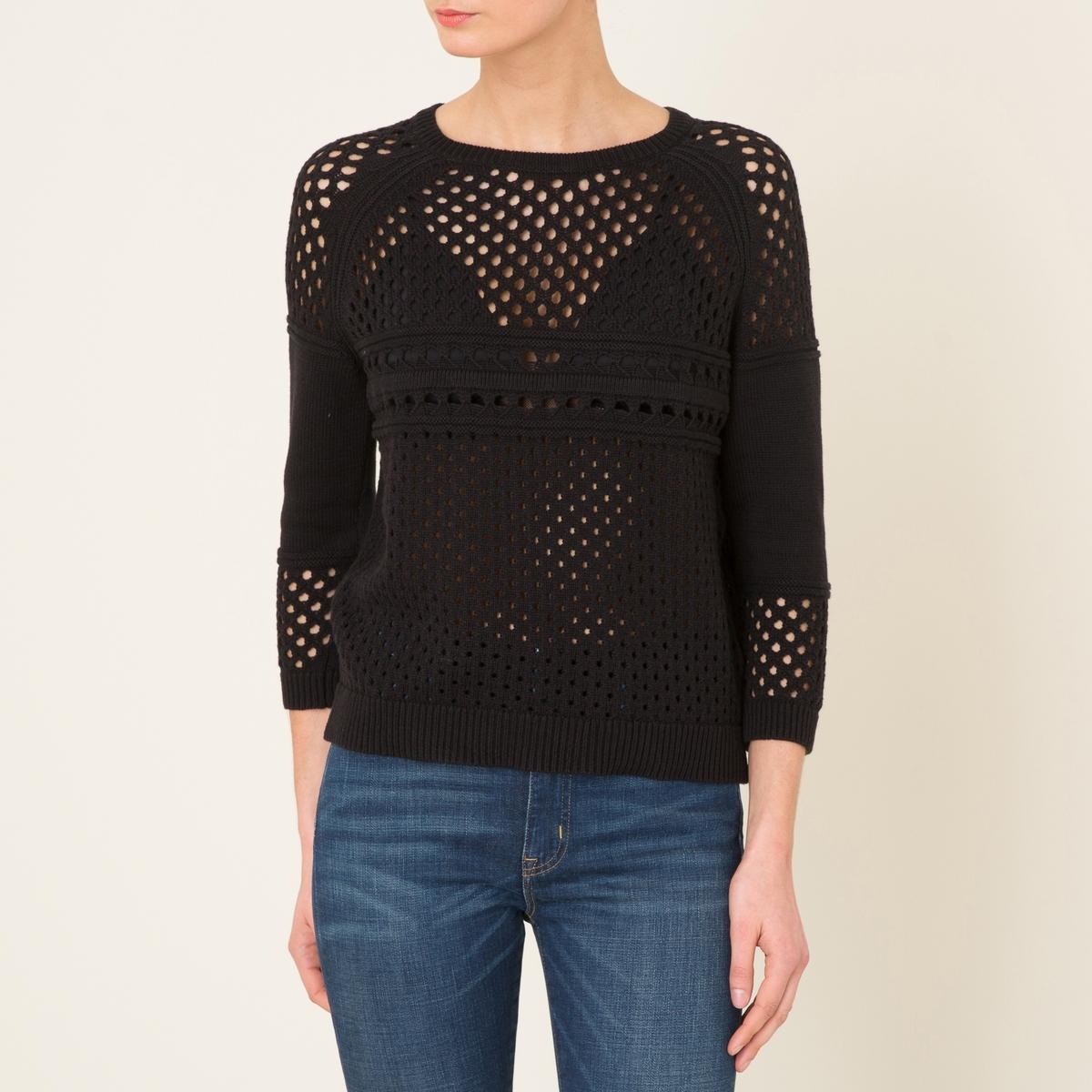 Пуловер ELBAСостав и описание    Материал : 100% хлопок   Марка : BA&amp;SH<br><br>Цвет: черный