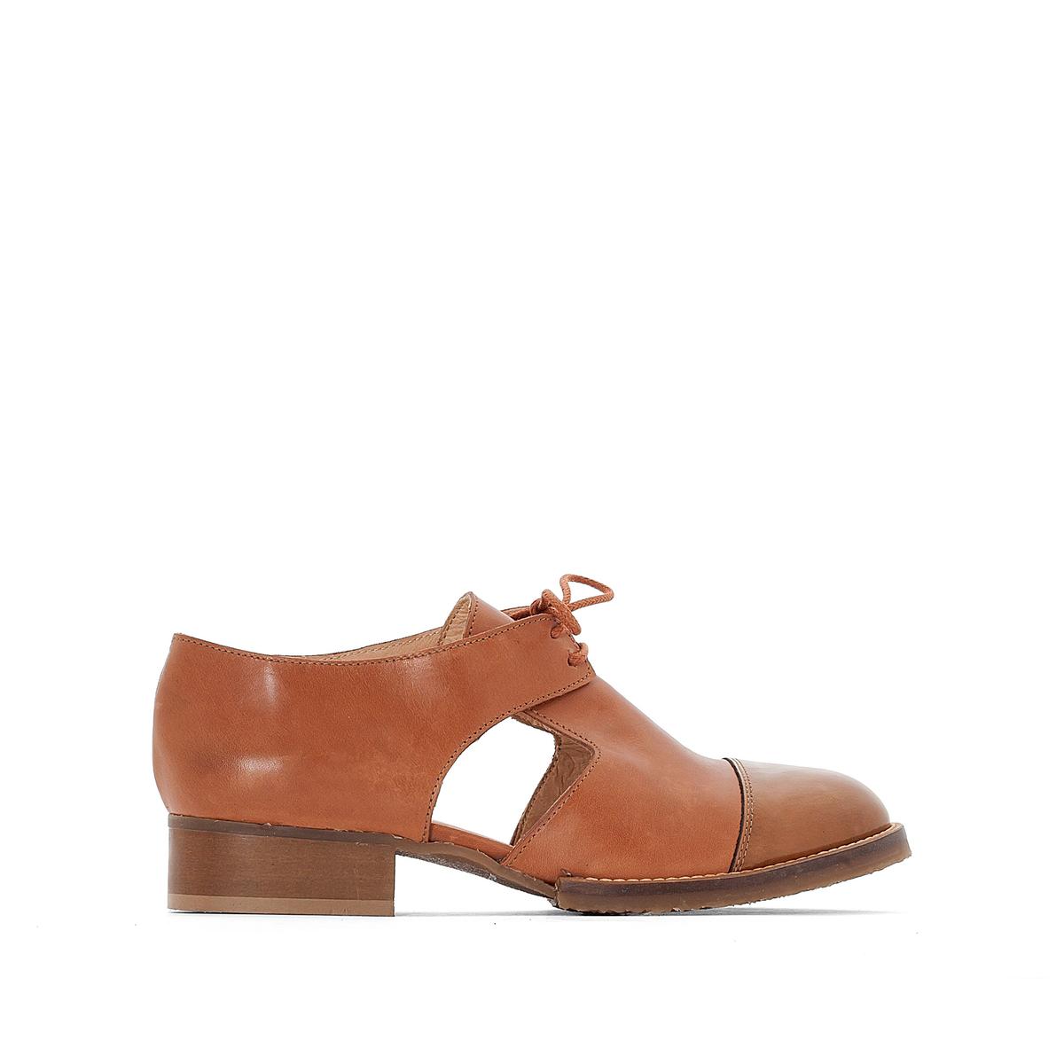 Ботинки-дерби кожаные AnoukВерх : кожа   Подкладка : кожа   Стелька : кожа   Подошва : эластомер   Высота каблука : 1 см   Форма каблука : плоский каблук   Мысок : закругленный мысок   Застежка : шнуровка<br><br>Цвет: коньячный