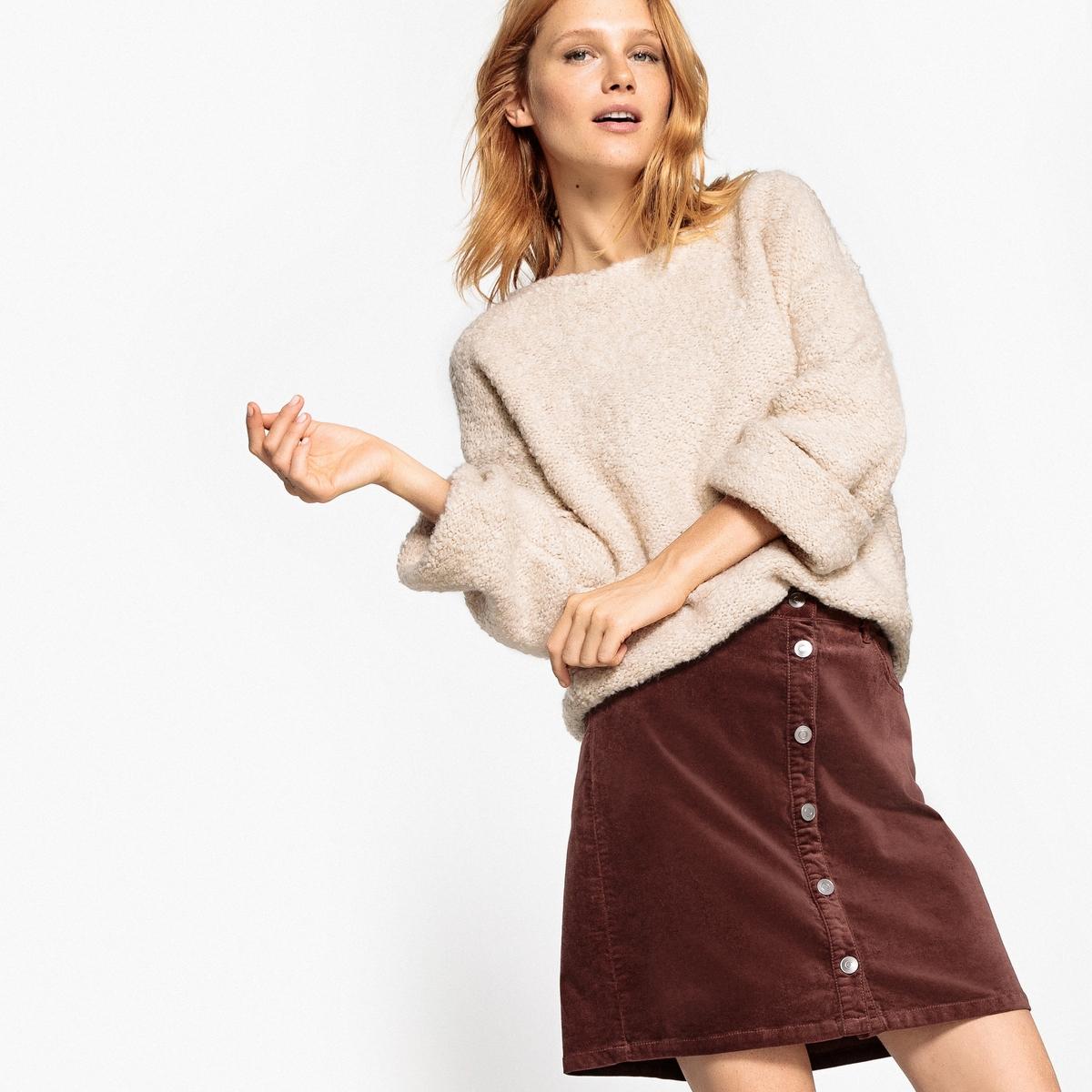 Пуловер из трикотажа с эффектом букле