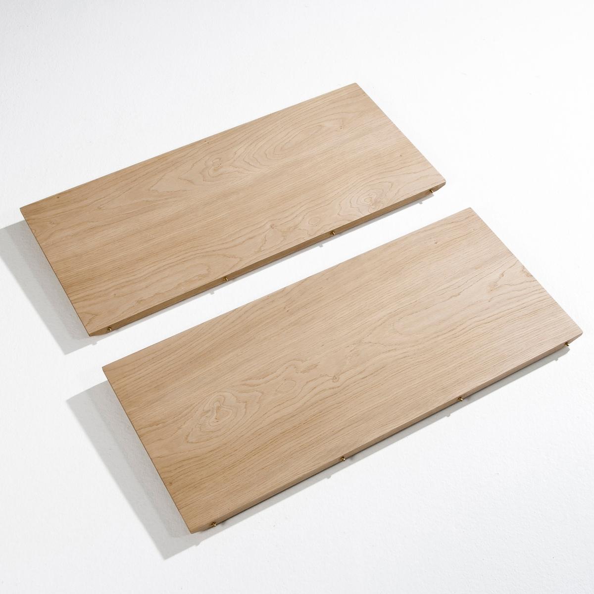 2 дополнительных секции для стола  BuondiХарактеристики:- МДФ, лакированный дуб.Размеры:- Дл. 40 x Выс. 2,2 x Гл. 90 смРазмеры и вес упаковки:- Дл. 102 x Выс. 10 x Гл. 51,5 см, 14 кгДоставка на домВаш товар будет доставлен по назначению, даже на этажВнимание! Пожалуйста, убедитесь, что упаковка пройдет через проемы (двери, лестницы, лифты)<br><br>Цвет: натуральный дуб