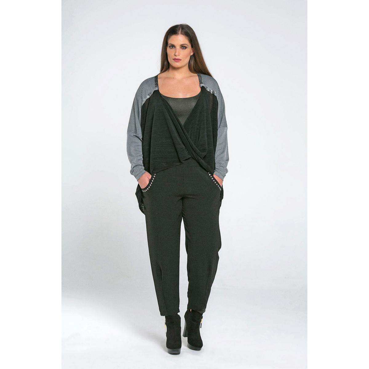 купить Пуловер с V-образным вырезом, из тонкого трикотажа по цене 3379.6 рублей