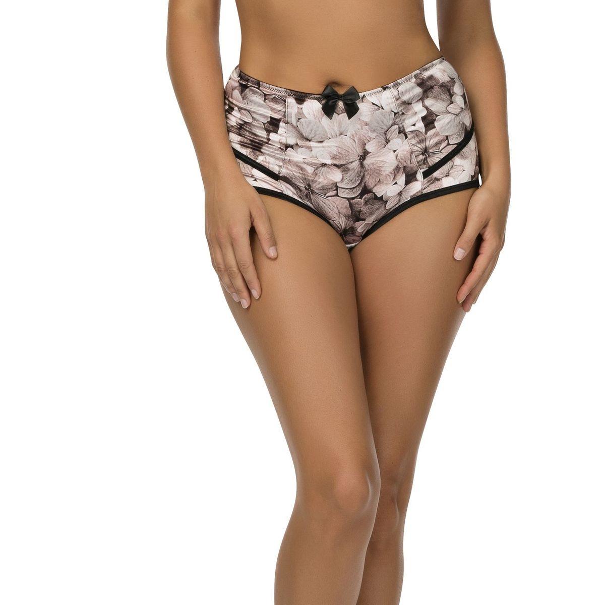 Culotte Taille Haute à Imprimé Fleuri