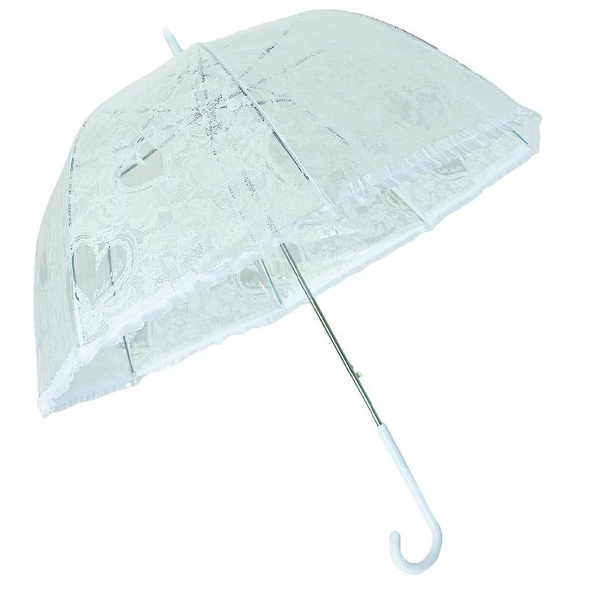 Parapluie Dans l air du temps Transparent dentelle blanche