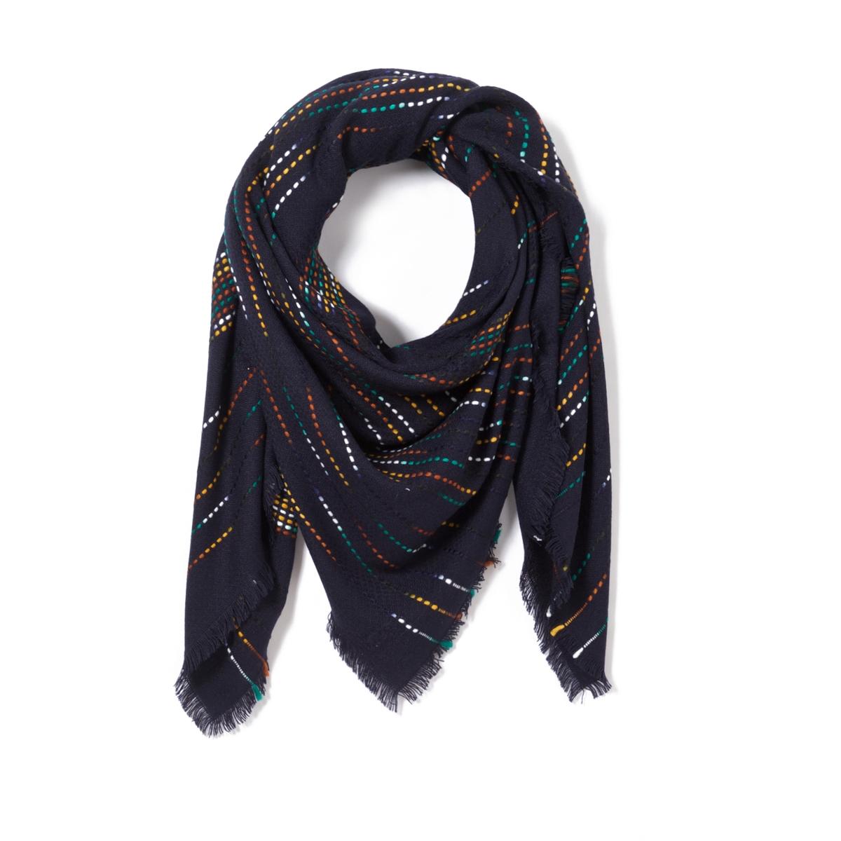 Шарф с блестящими деталямиЖенственный шарф с блестящими деталями украсит наш гардероб и придаст изысканности. Состав и описание : Материал : 100% акрилРазмеры : 160 X 160 смУход : Следуйте рекомендациям, указанным на этикетке изделия.<br><br>Цвет: бордовый,желтый горчичный,синий,черный<br>Размер: единый размер.единый размер.единый размер.единый размер