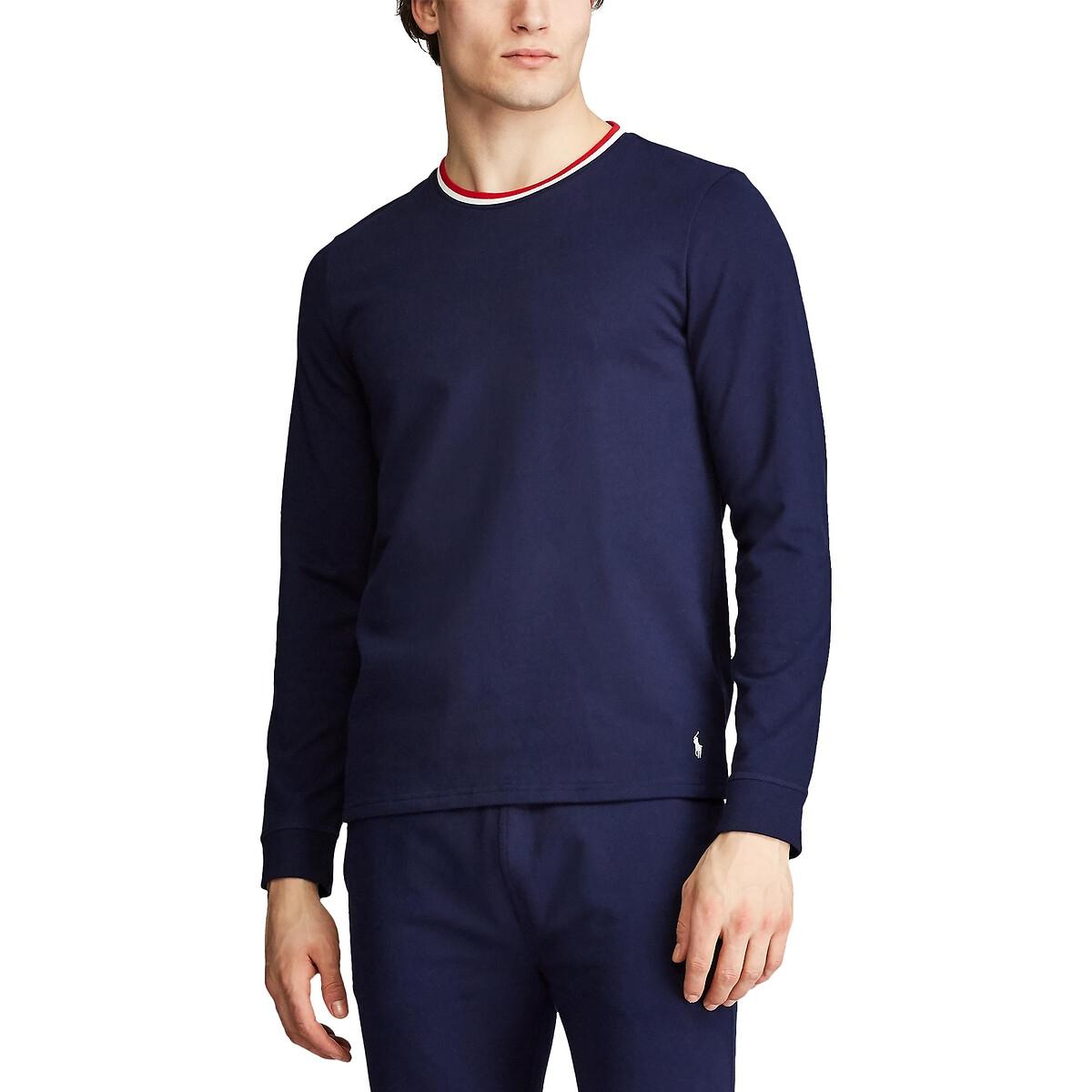 Футболка La Redoute С длинными рукавами S синий блуза la redoute с рисунком и длинными рукавами s синий