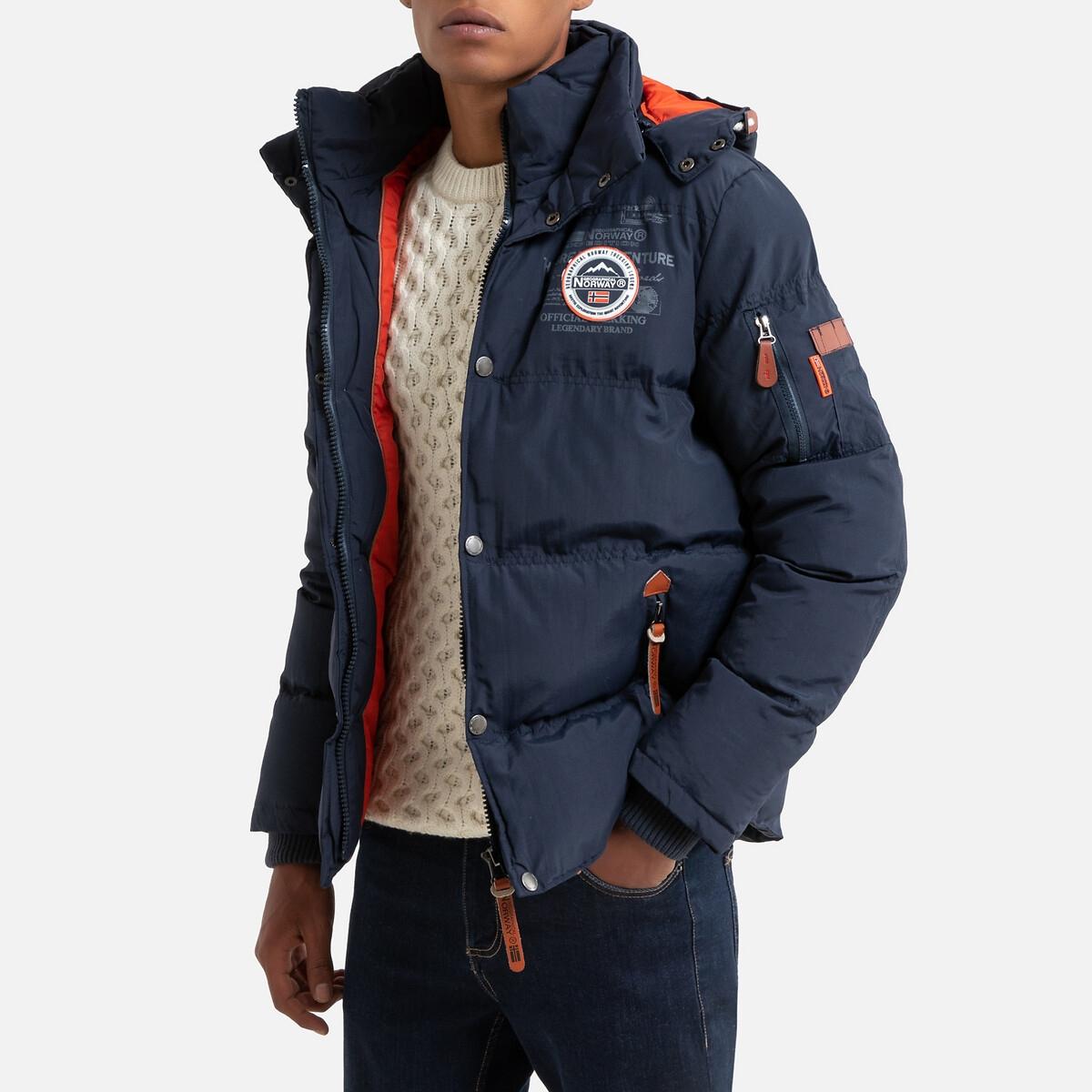 Куртка LaRedoute Стеганая утепленная с капюшоном Verveine XL синий