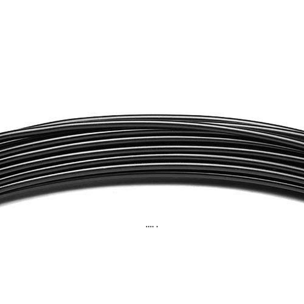 Fil aluminium Noir souple D 2 mm L 12 metres decoration - choisissez votre coloris: Noir