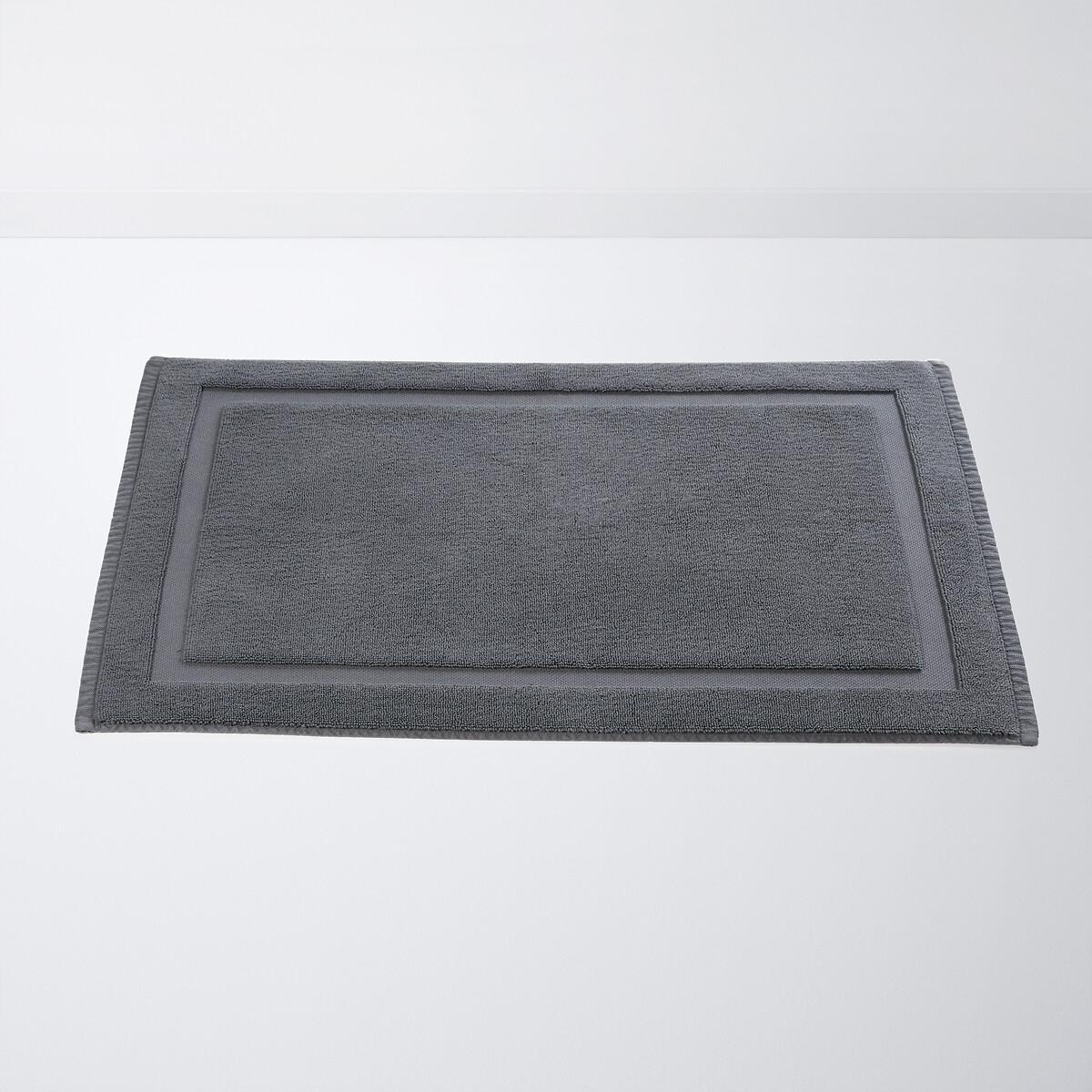 Коврик LaRedoute Для ванной из биохлопка Helmi 50 x 80 см серый