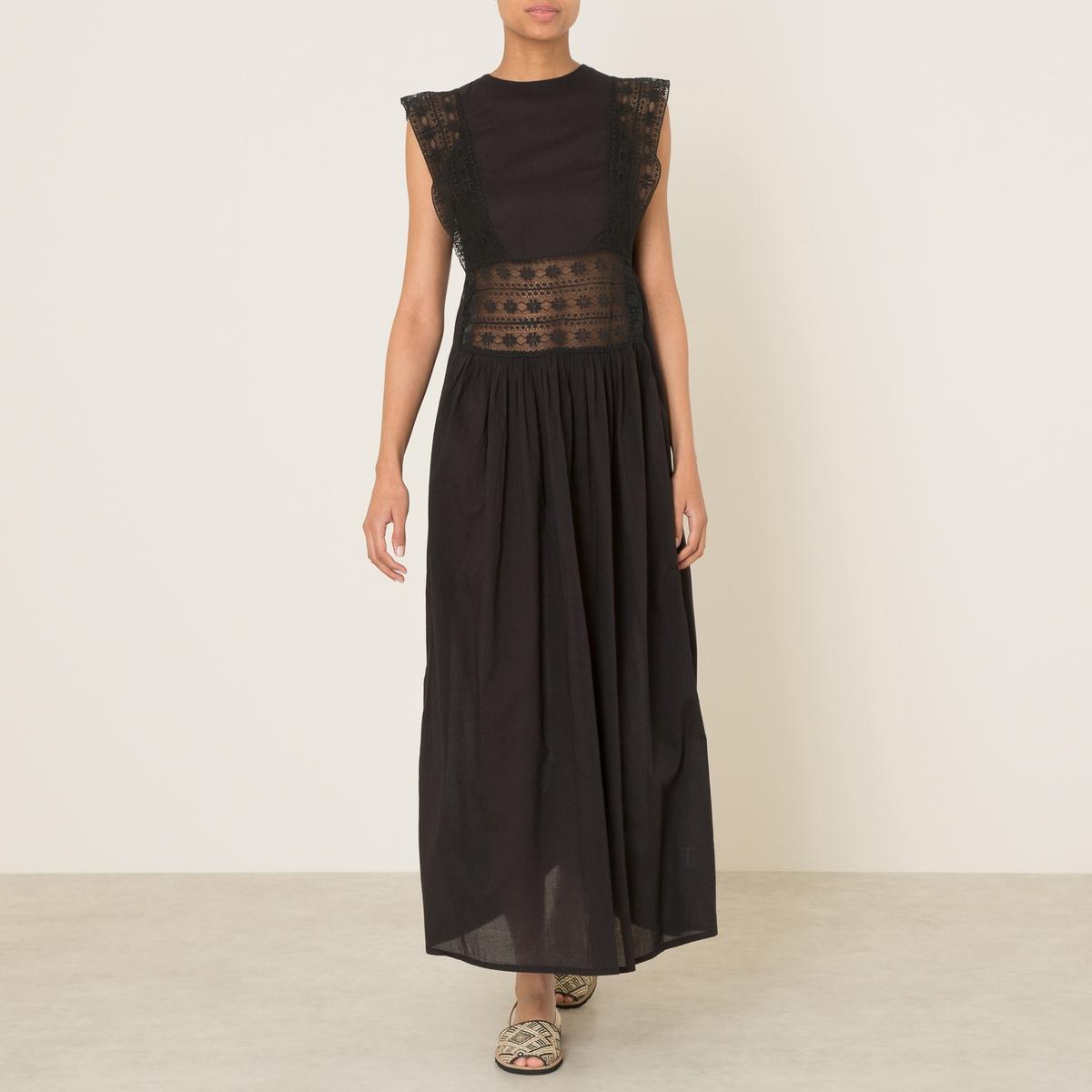 Платье AGATAСостав и описание    Материал : 100% хлопок   Длина : ок.144 см. для размера 36   Марка :<br><br>Цвет: черный<br>Размер: 36 (FR) - 42 (RUS)