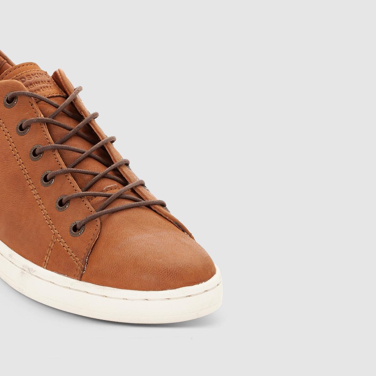 Кеды низкие из кожи  REDSKINS SLIDEКеды низкие из кожи  SLIDE от REDSKINS Верх : козья кожаПодкладка :  текстиль и кожа Стелька : кожа.Подошва : эластомер.Застежка : шнуровка Преимущества : низкие кеды из кожи REDSKINS, пропитанные духом обуви для тенниса 70-х годов, с великолепной натуральной расцветкой  .<br><br>Цвет: коньячный<br>Размер: 40.45.44