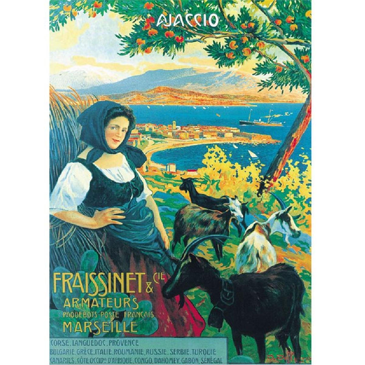 Affiche ancienne Ajaccio