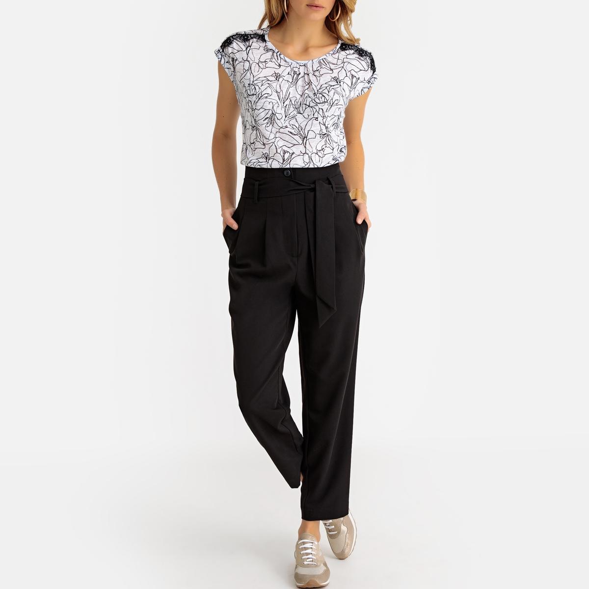 Imagen adicional 3 de producto de Pantalón recto de pinzas, talle alto - Anne weyburn