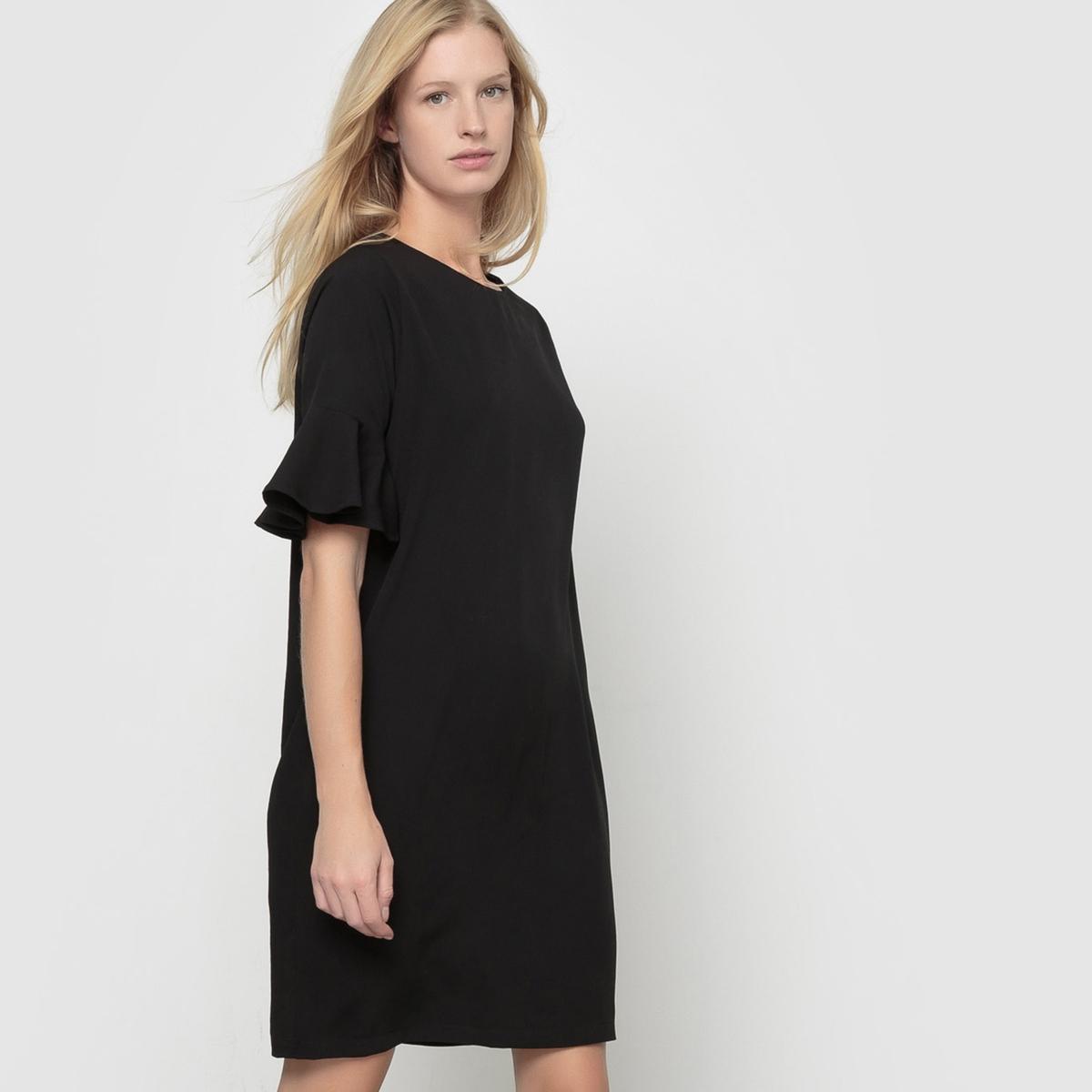 Платье с короткими рукавами CarmoСостав и описаниеМатериал : 100% полиэстерМарка : ICHI.Модель : CarmoУходСледуйте инструкции по уходу на этикетке<br><br>Цвет: черный<br>Размер: XL