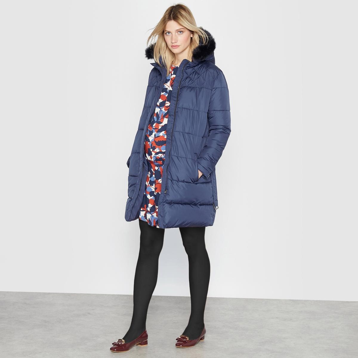 Куртка с капюшоном для периода беременностиОписание:Теплая и удобная зимняя куртка, в которой холод ни по чем . Прямой покрой с ремешком в шлевках  . Капюшон оторочен искусственным мехом . Детали •  Длина : средняя •  Капюшон •  Застежка на молнию •  С капюшономСостав и уход •  100% полиэстер •  Подкладка : 100% полиэстер •  Наполнитель : 100% полиэстер • Не стирать •  Деликатная чистка/без отбеливателей •  Не использовать барабанную сушку   •  Не гладитьМодель адаптирована для периода беременности<br><br>Цвет: темно-синий,черный<br>Размер: 36 (FR) - 42 (RUS).38 (FR) - 44 (RUS).36 (FR) - 42 (RUS)