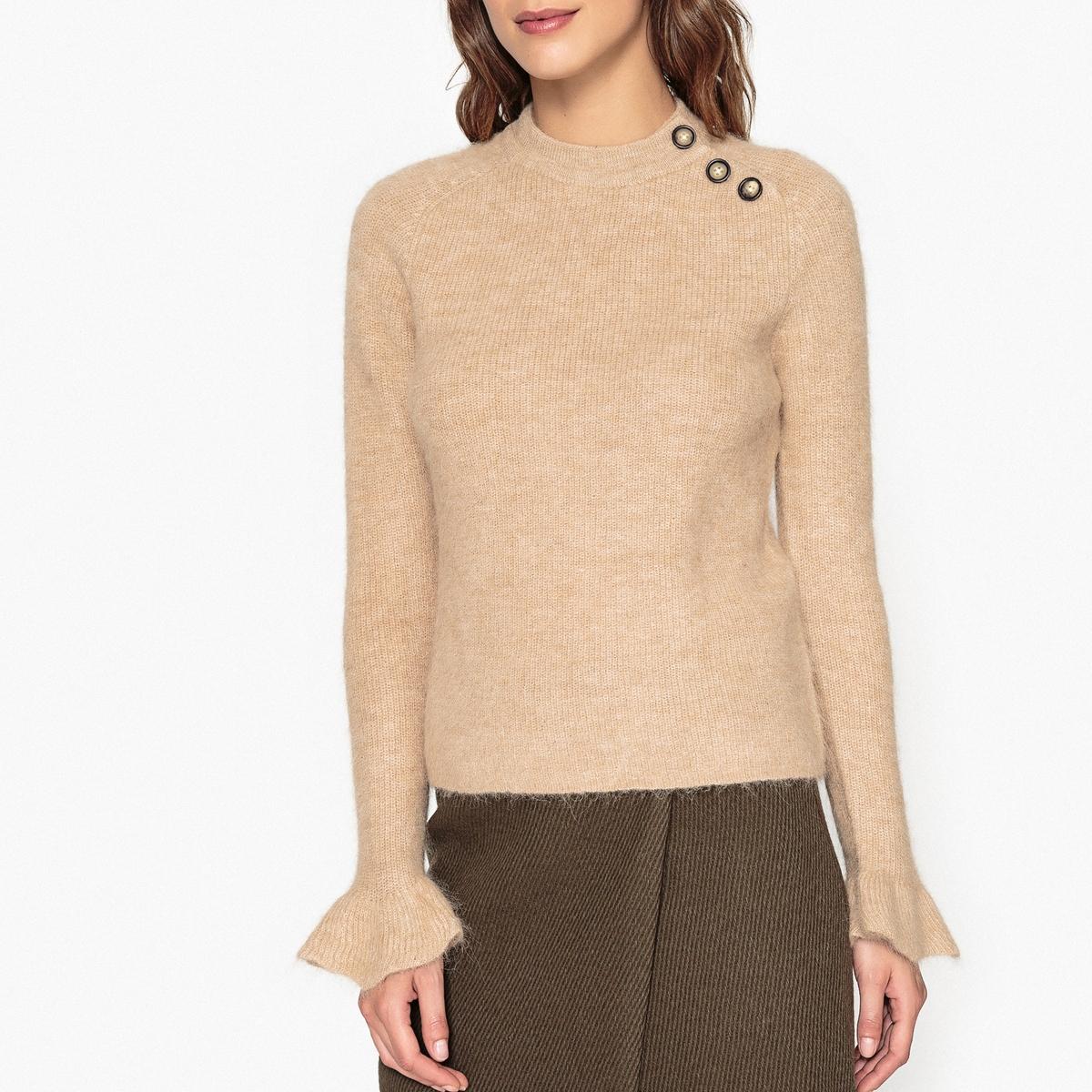 Пуловер с рукавами-воланами MUCHACHA