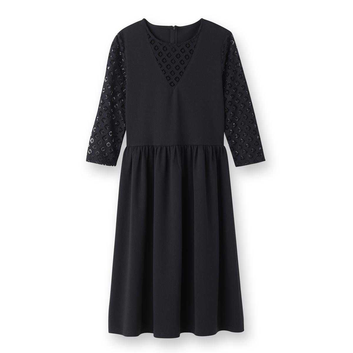 Платье-миди кружевное