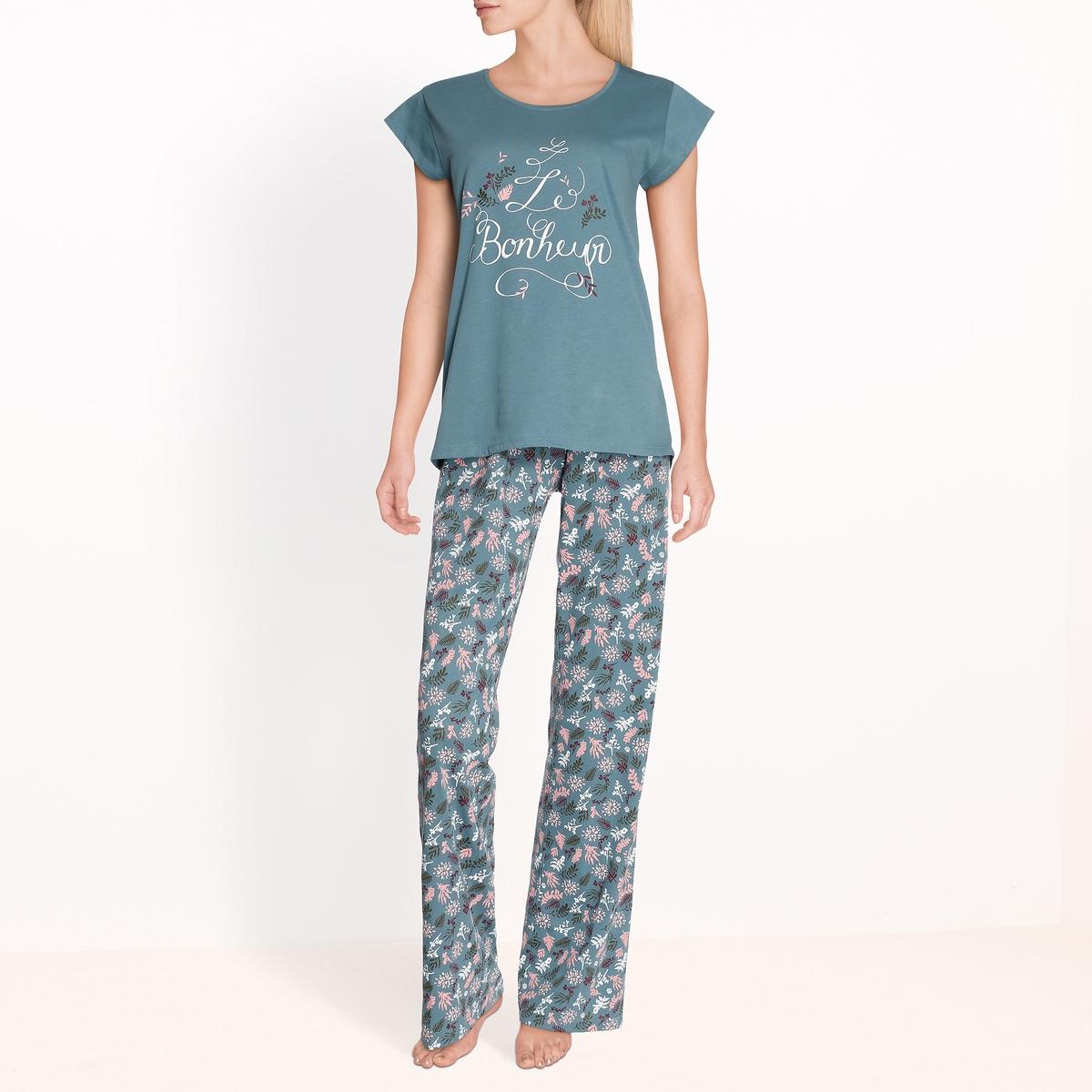 Пижама с цветочным рисунком