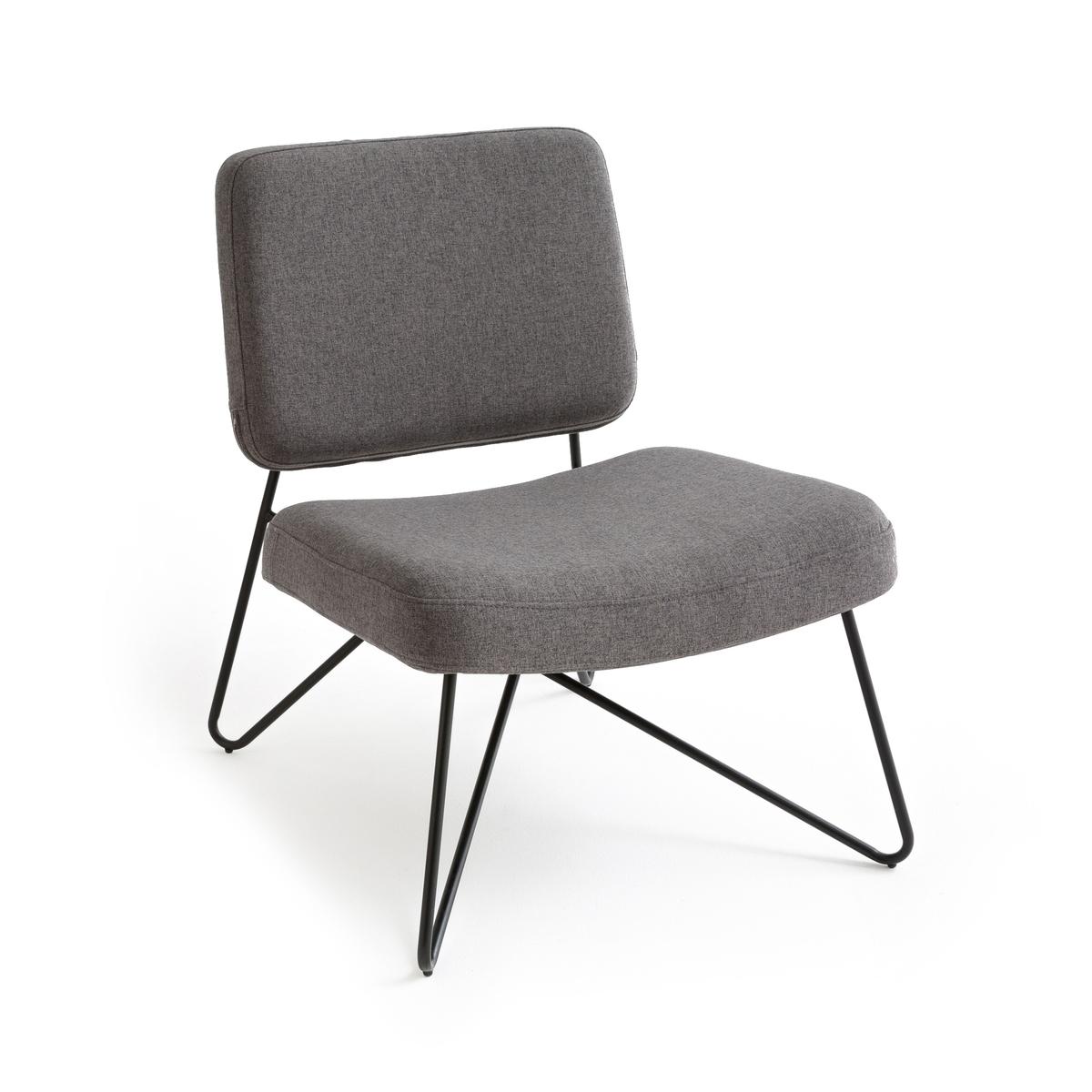 Кресло мягкое в винтажном стиле, WATFORD кресло низкое и широкое в винтажном стиле из велюра с бахромой ramona