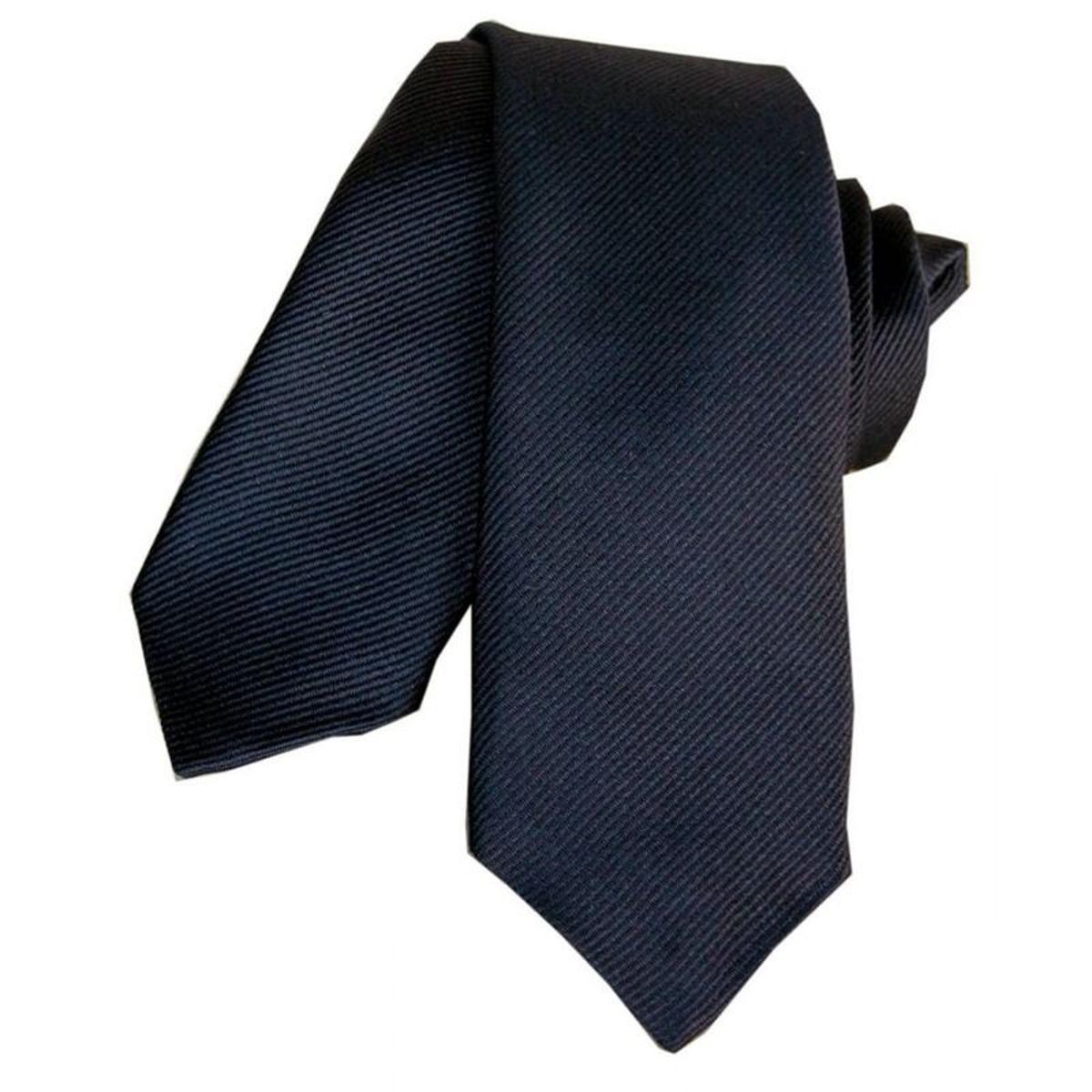 Cravate Slim Classique slim segni. Soie Uni