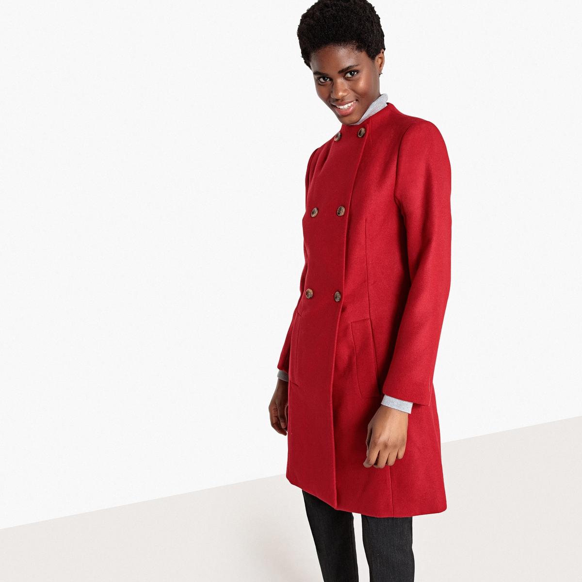 Пальто-трапеция средней длины