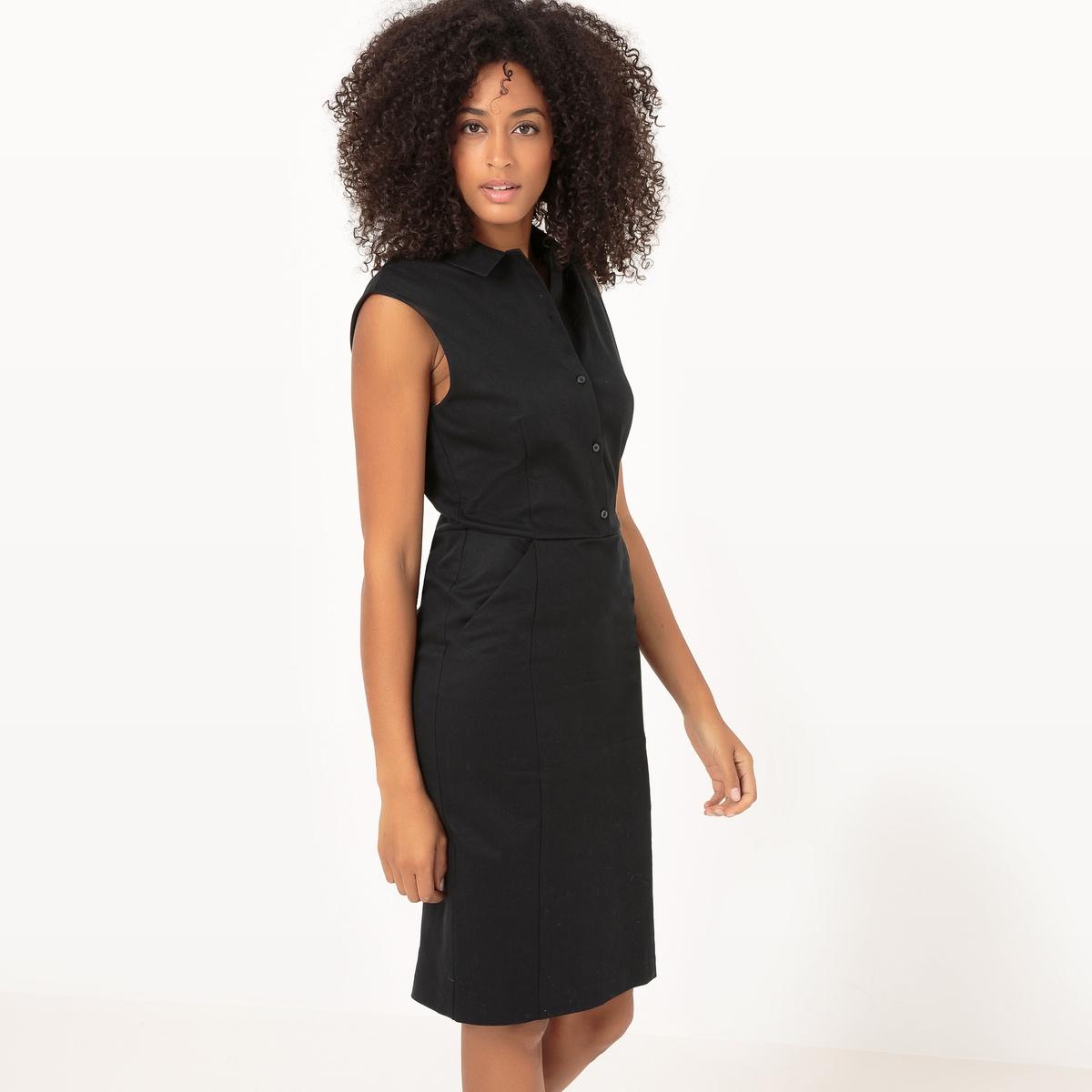 Платье-поло, однотонноеМатериал : 98% хлопка, 2% эластана             Длина рукава : короткие рукава             Форма воротника : воротник-поло, рубашечный            Покрой платья : платье прямого покроя                 Рисунок : однотонная модель              Длина платья : 100 см            Стирка : Машинная стирка при 30 °С в деликатном режиме            Уход : Сухая чистка и отбеливание запрещены            Машинная сушка : Машинная сушка запрещена            Глажка : при средней температуре<br><br>Цвет: синий,черный<br>Размер: 40 (FR) - 46 (RUS).48 (FR) - 54 (RUS).44 (FR) - 50 (RUS).38 (FR) - 44 (RUS).52 (FR) - 58 (RUS).50 (FR) - 56 (RUS).48 (FR) - 54 (RUS).44 (FR) - 50 (RUS).38 (FR) - 44 (RUS).36 (FR) - 42 (RUS)