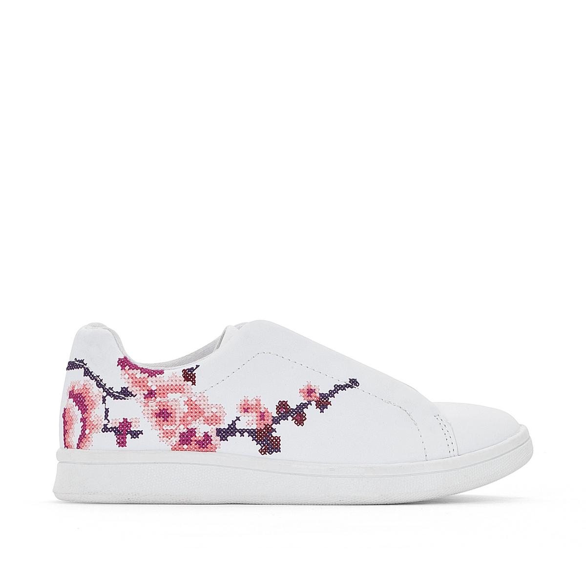Купить со скидкой Кеды с цветочной вышивкой 26-39
