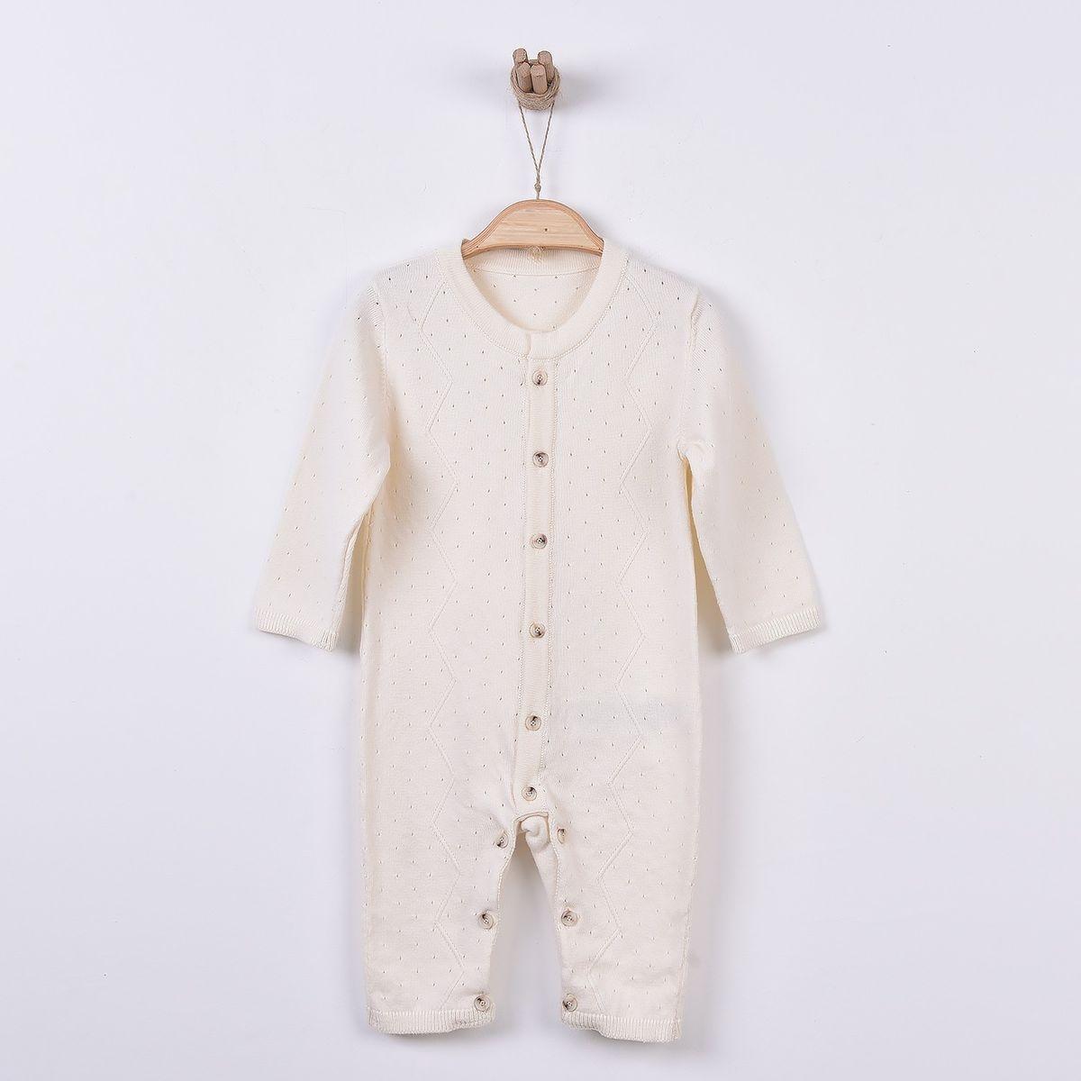 Combinaison bébé en tricot bio