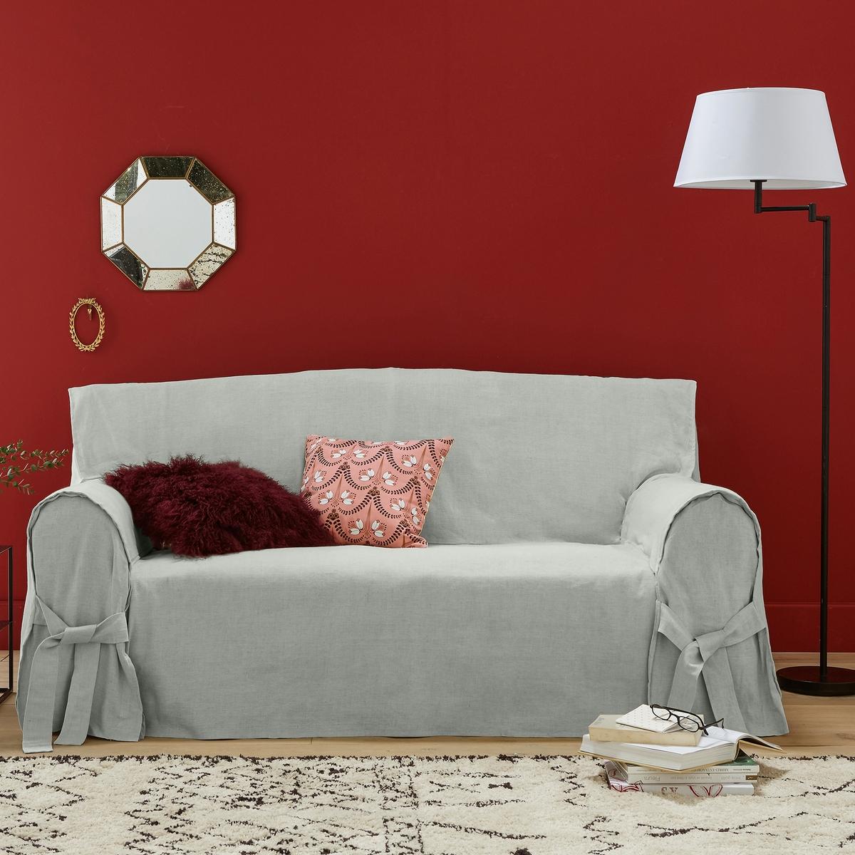 Чехол для диванаКачество VALEUR SURE. Плотная смесовая ткань исключительного качества,  55% льна, 45% хлопка. Общие размеры: общая высота 102 см, глубина сиденья 60 см. Стирка при 40°. Превосходная стойкость цвета к солнечным лучам. 2-местный диван: максимальная ширина 142 см, 2-3-местный диван: максимальная ширина 180 см. 3-местный диван: максимальная ширина 206 см.<br><br>Цвет: антрацит,белый,серо-бежевый,серо-коричневый каштан,серый,экрю<br>Размер: 3 местн..3 местн..2 места.2/3 мест.2 места.2 места.3 местн..3 местн.