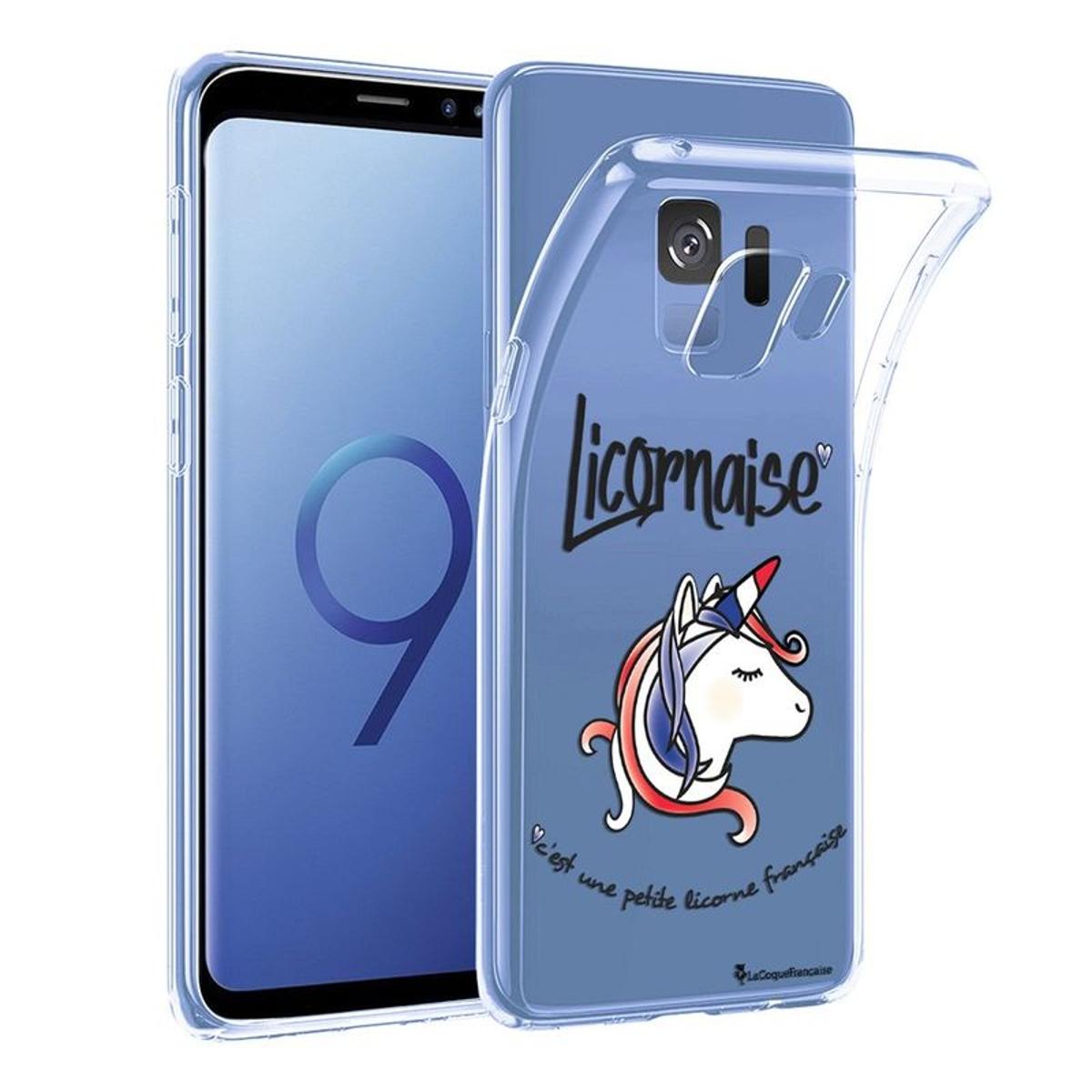 Coque Samsung Galaxy S9 Plus souple transparente, Licornaise, La Coque Francaise®