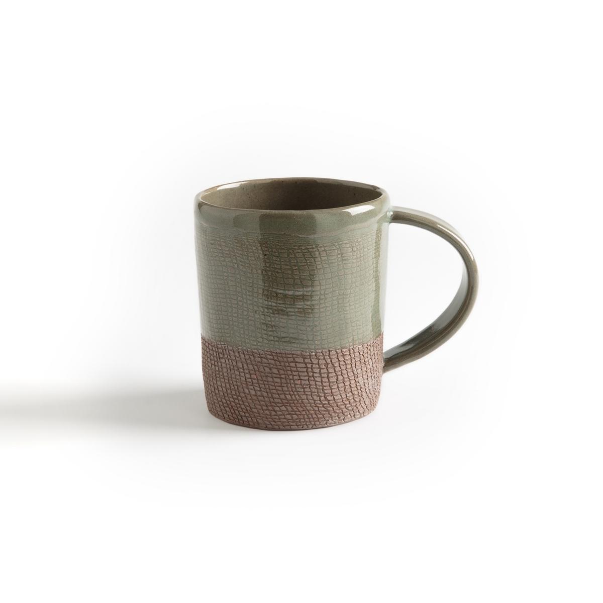 Кружка La Redoute Из керамики Sanna единый размер каштановый плоские la redoute тарелки из эмалированной керамики attale единый размер каштановый