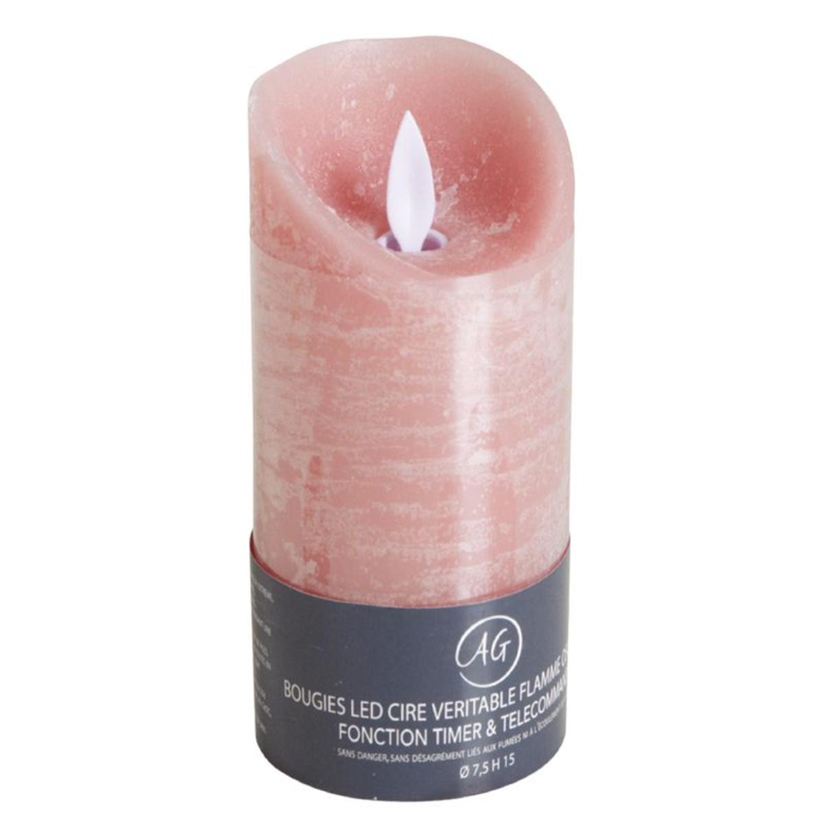Bougie à LEDs parfum fleur de coton rose Grand