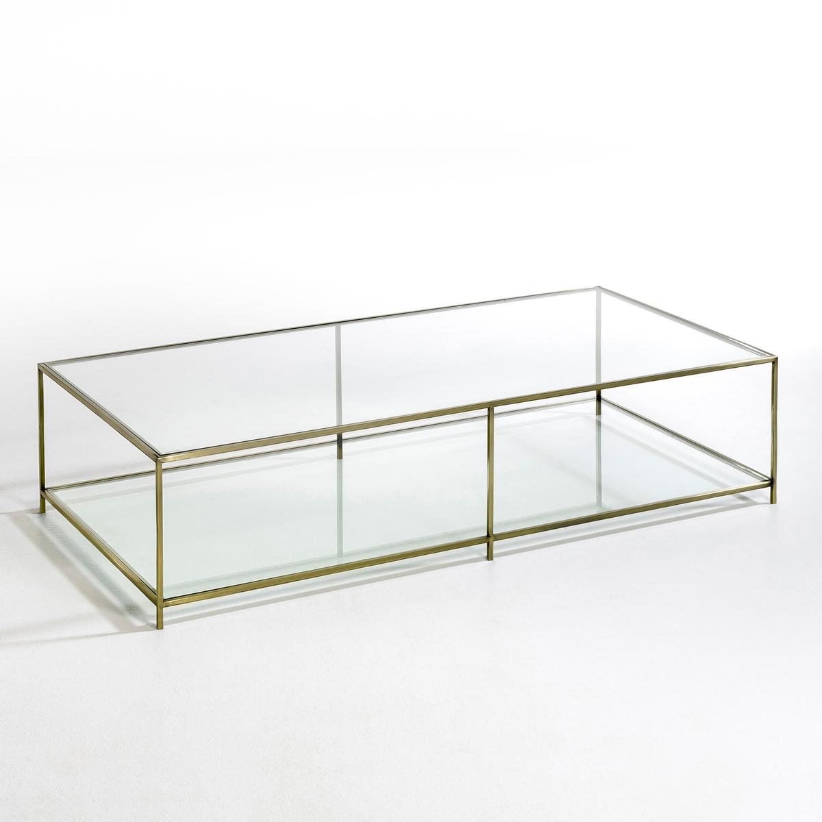 Стол журнальный прямоугольный из закаленного стекла, Sybil