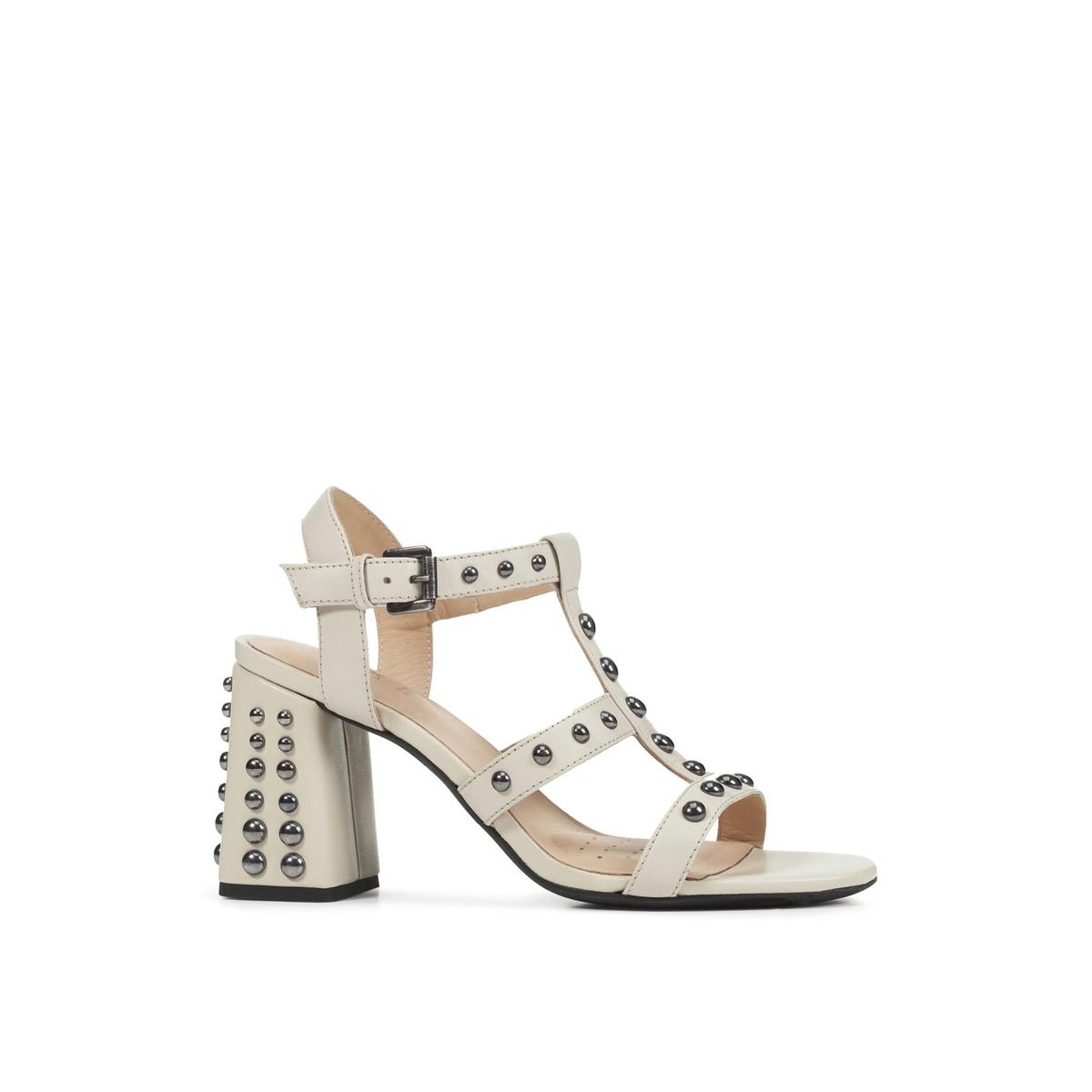 Sandalias de tacón transpirables de piel Seyla