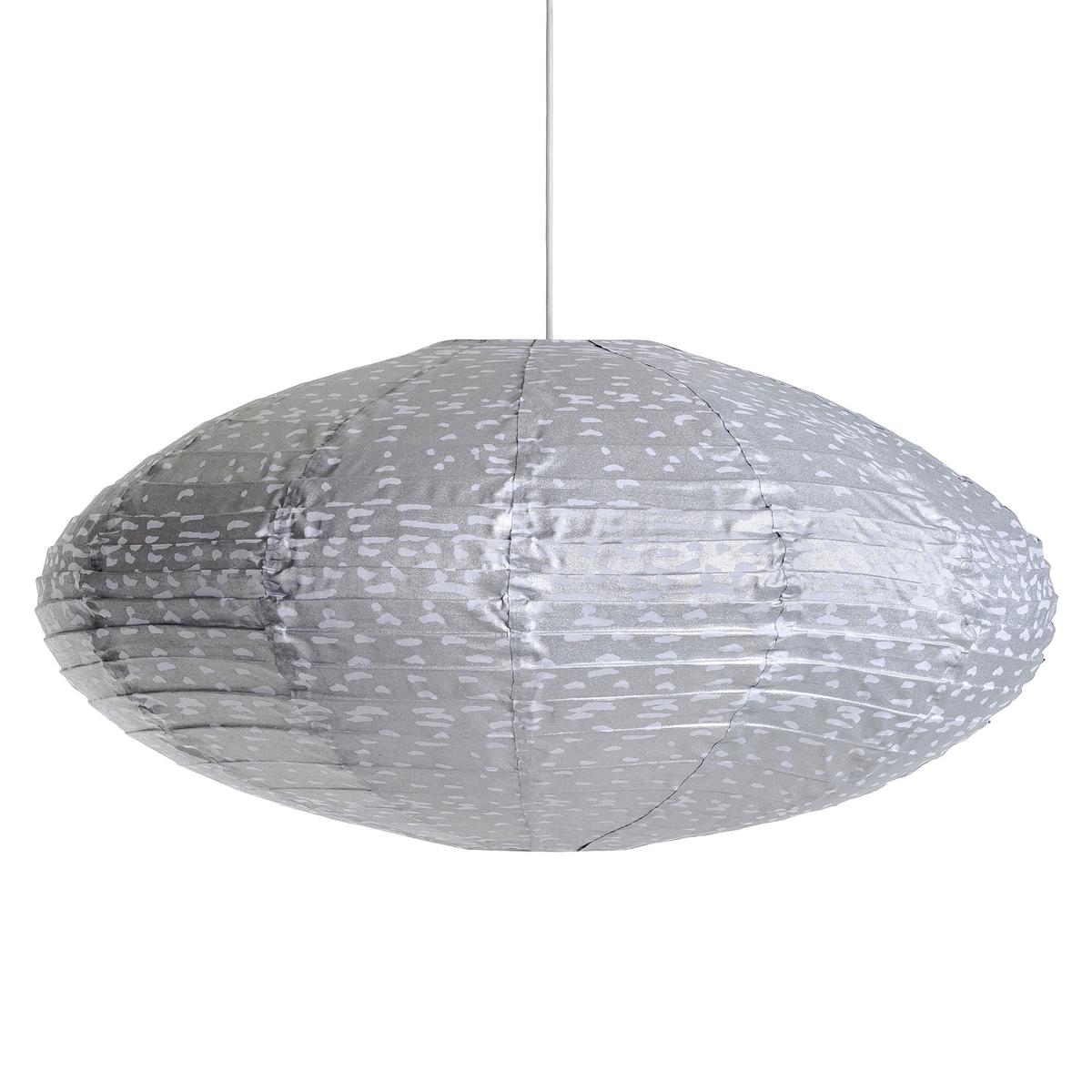 Светильник подвесной овальный  Sidy, с точечным рисункомХарактеристики :- Каркас из металлических проволок, обтянутый хлопком.- Без проводки Размеры :- Диаметр.75 x Выс.40 см.<br><br>Цвет: серый/ белый