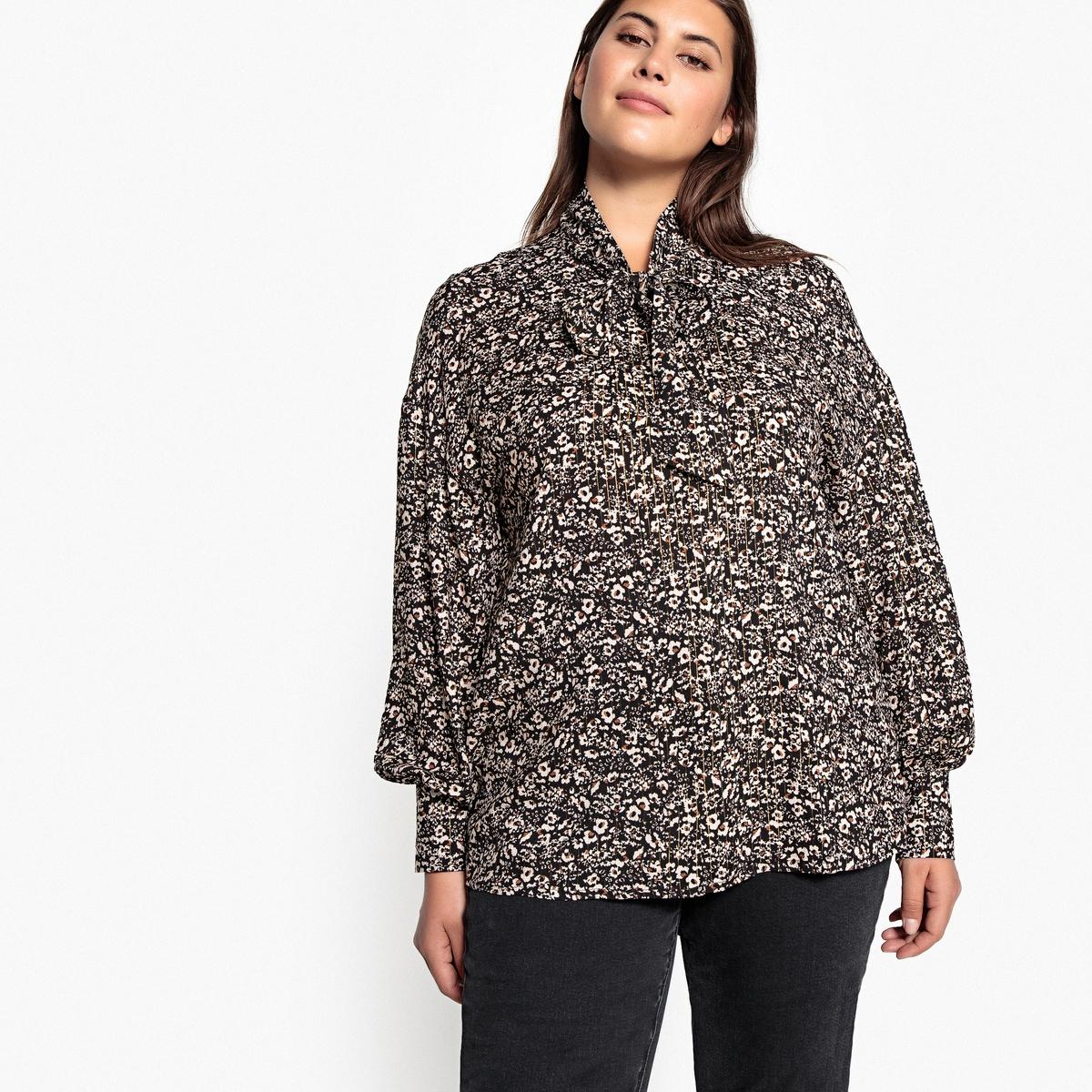Рубашка La Redoute С завязками с леопардовым принтом 42 (FR) - 48 (RUS) другие куртка la redoute легкая укороченная с леопардовым принтом 34 fr 40 rus другие