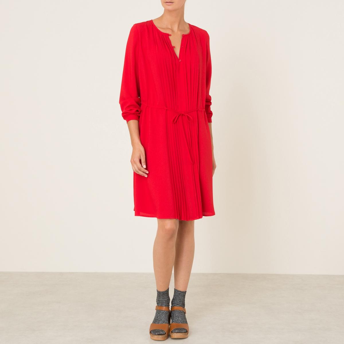 Платье FRANNIEСостав и описание :Материал : 100% полиэстерМарка : ATHE VANESSA BRUNO<br><br>Цвет: красный