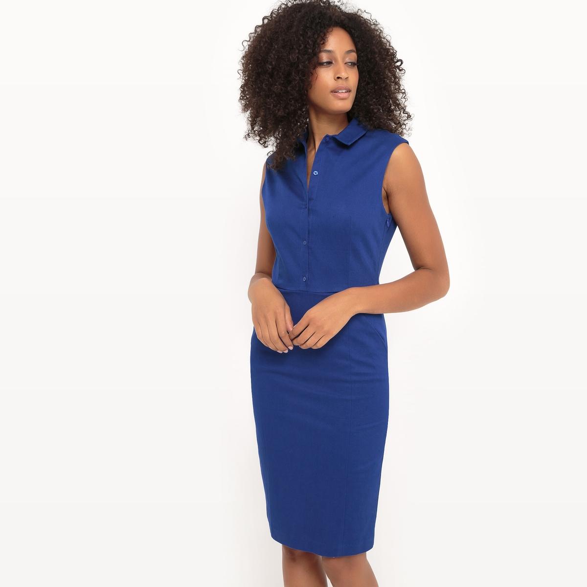 Платье-поло, однотонное