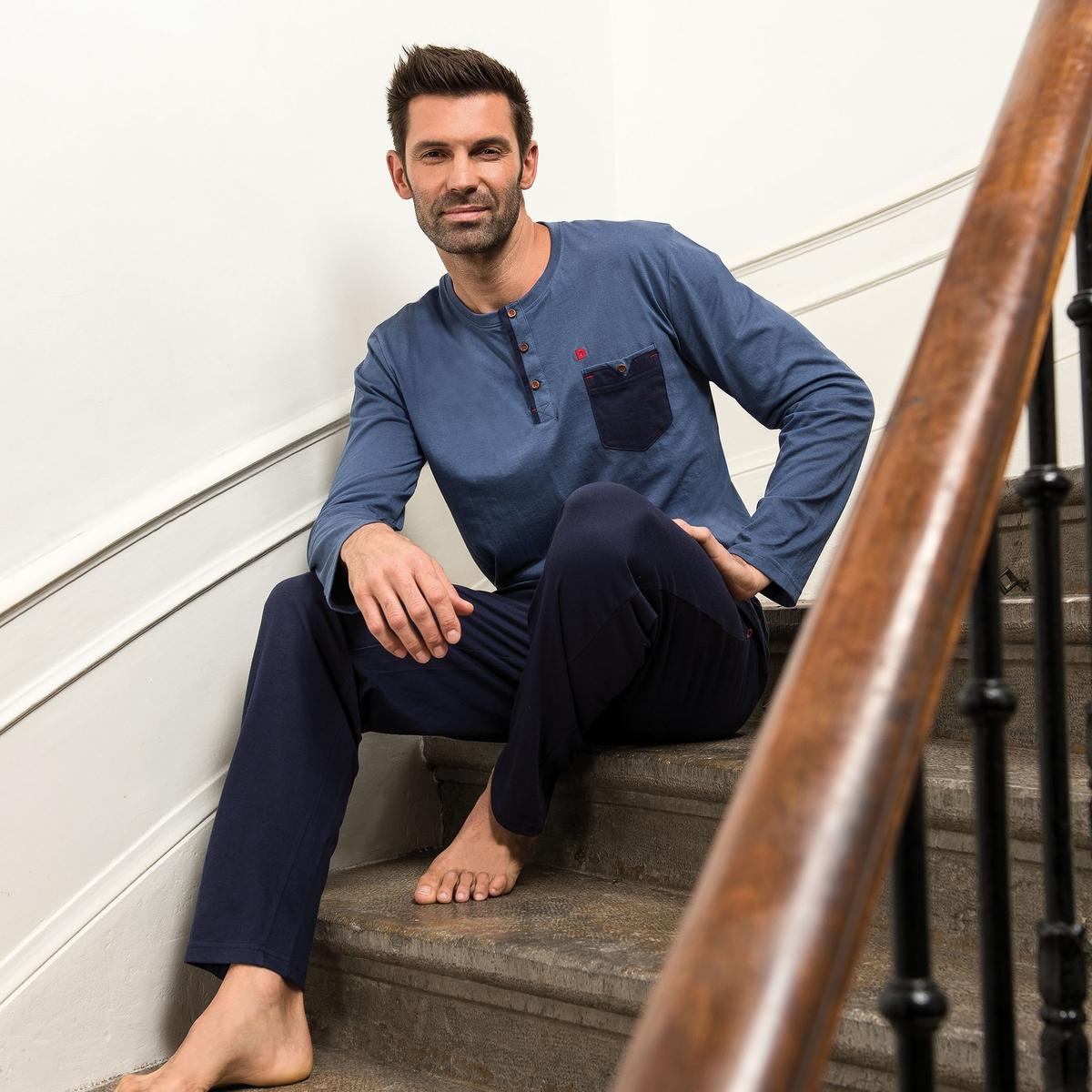 Пижама La Redoute С брюками Recycle L серый комбинезон с брюками однотонный