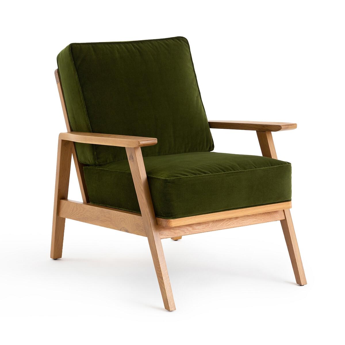 Кресло LaRedoute Винтажное Linna единый размер зеленый
